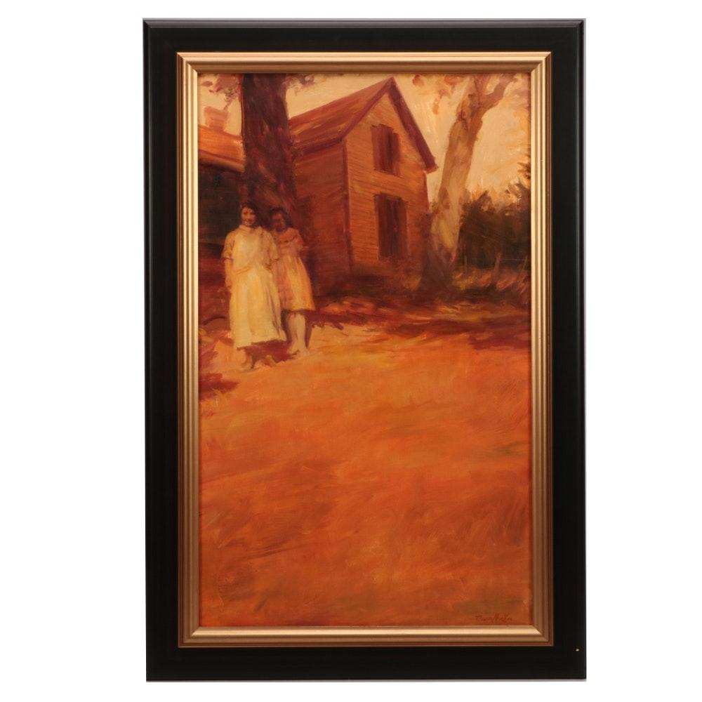 "David William Mueller Oil Painting ""The Homestead"""