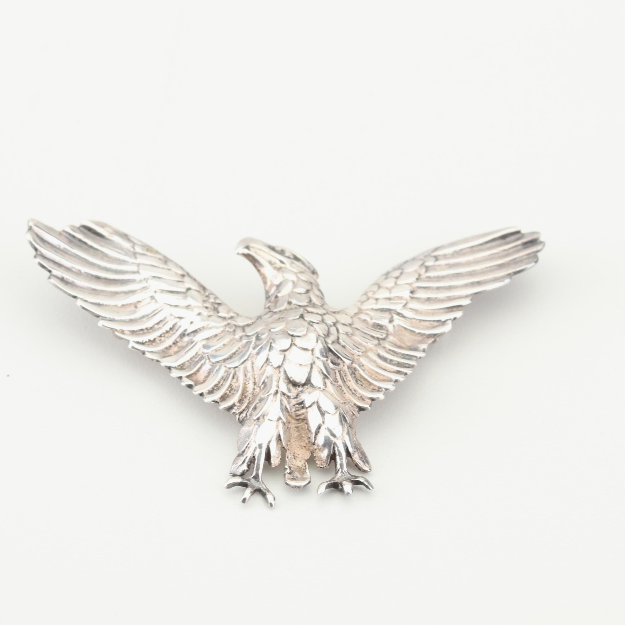 Bauring Sterling Silver Eagle Brooch