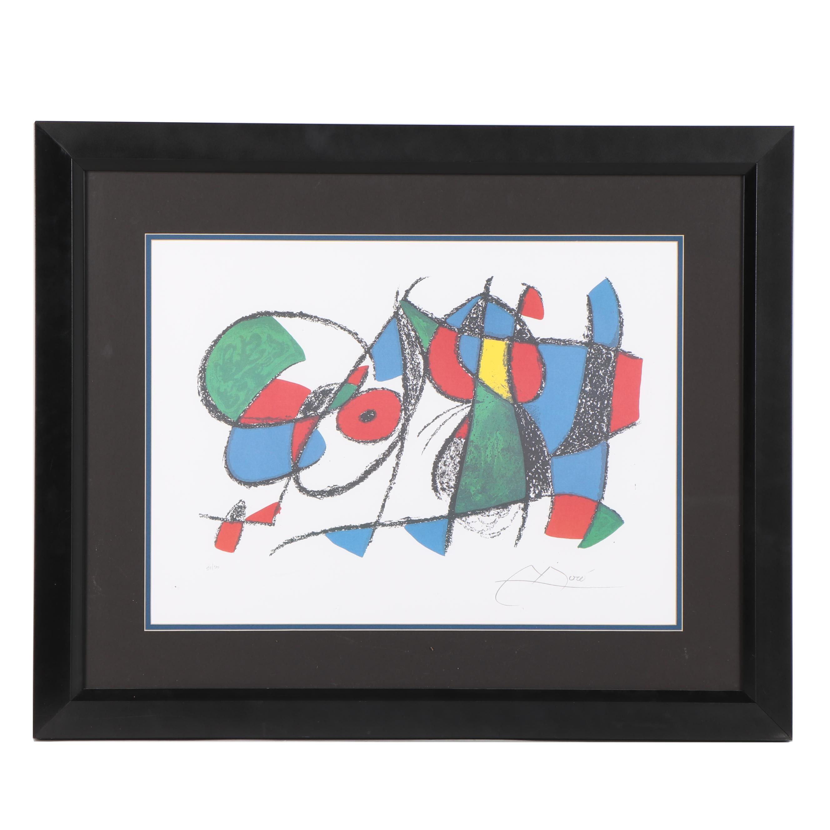 Color Lithograph after Joan Miró
