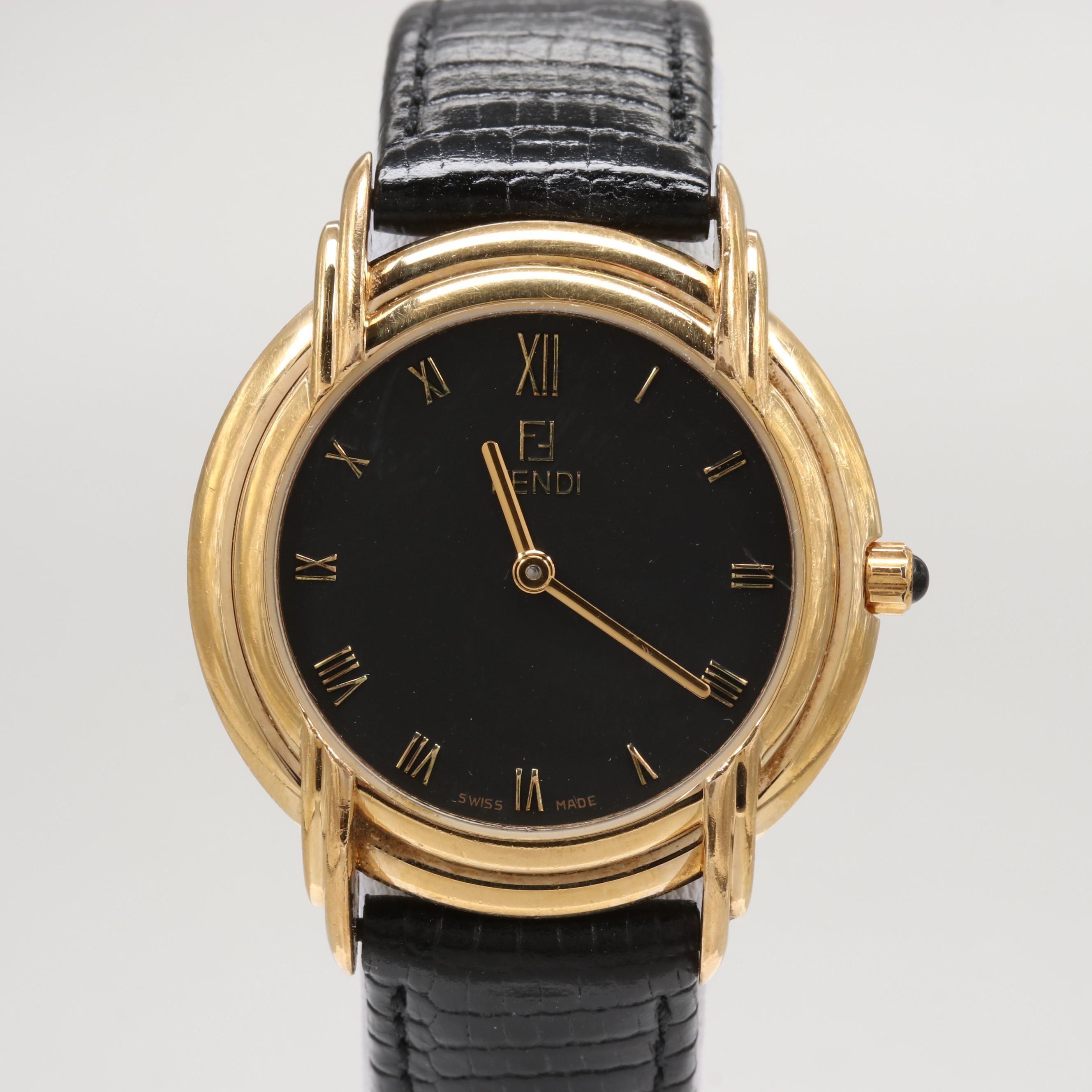 Fendi Gold Tone Wristwatch