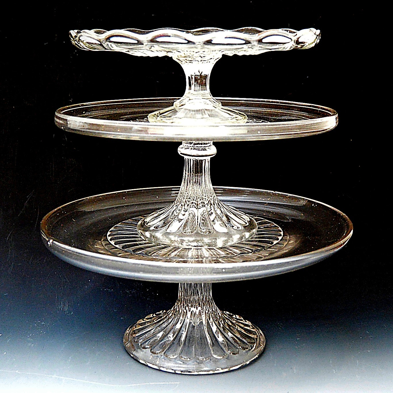 Vintage Pressed Glass Cake Stands
