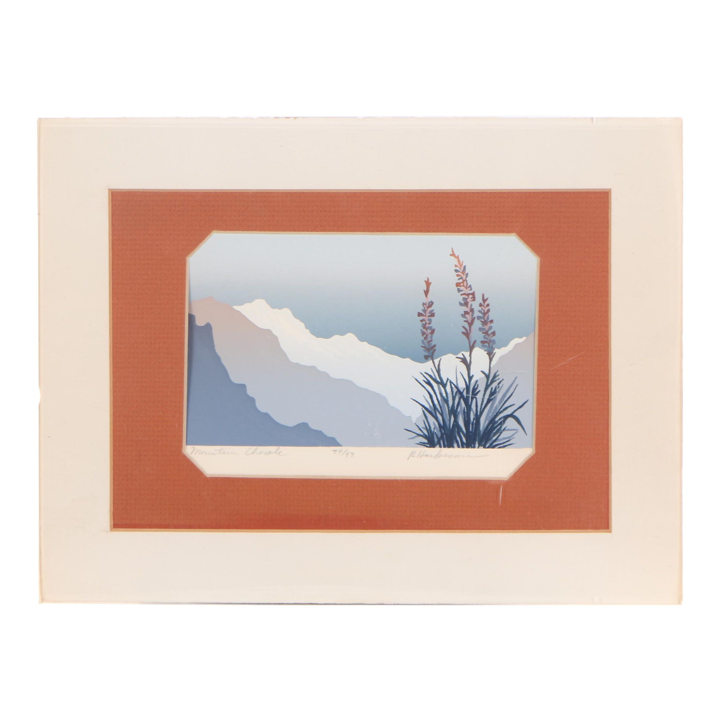 """Limited Edition Serigraph """"Mountain Chorale"""""""