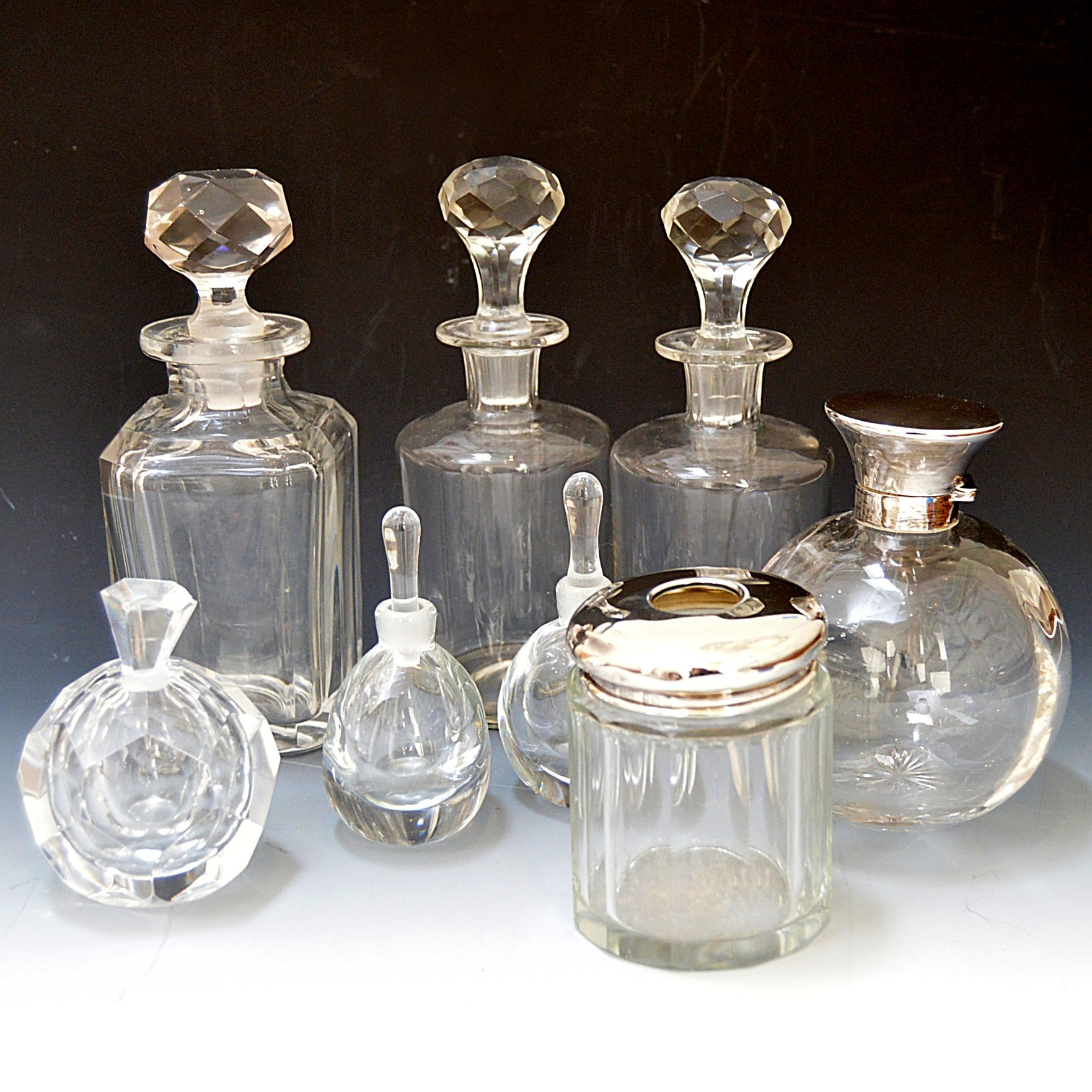 Vintage Glass Perfume Bottles