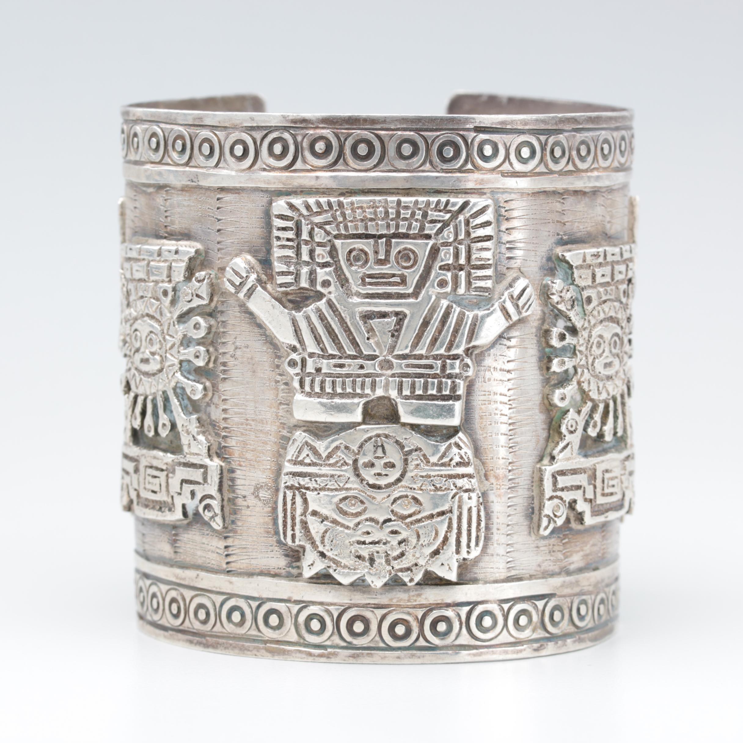 Peruvian Sterling Silver Cuff Bracelet