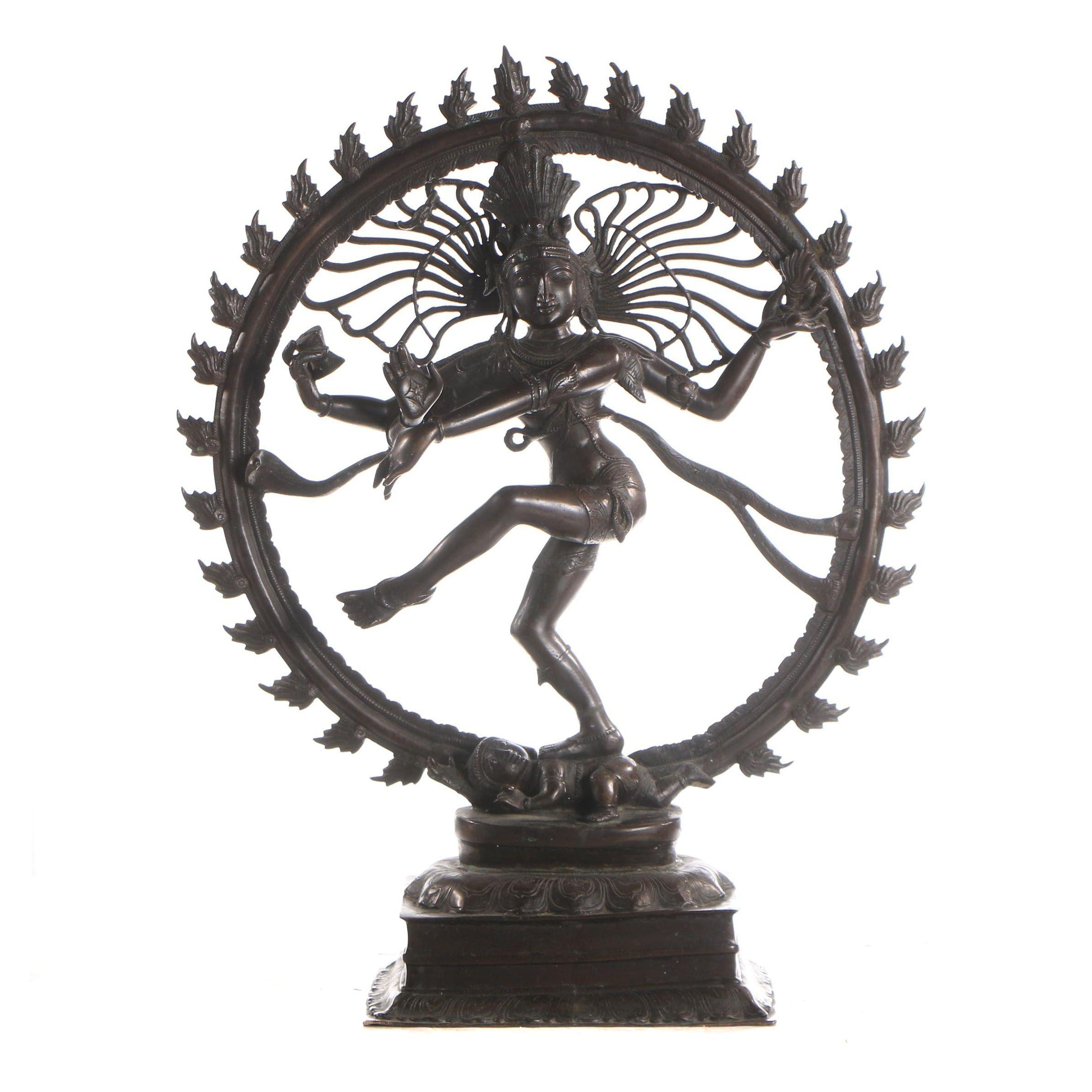 Shiva-Nataraja Bronze-Toned Metal Sculpture