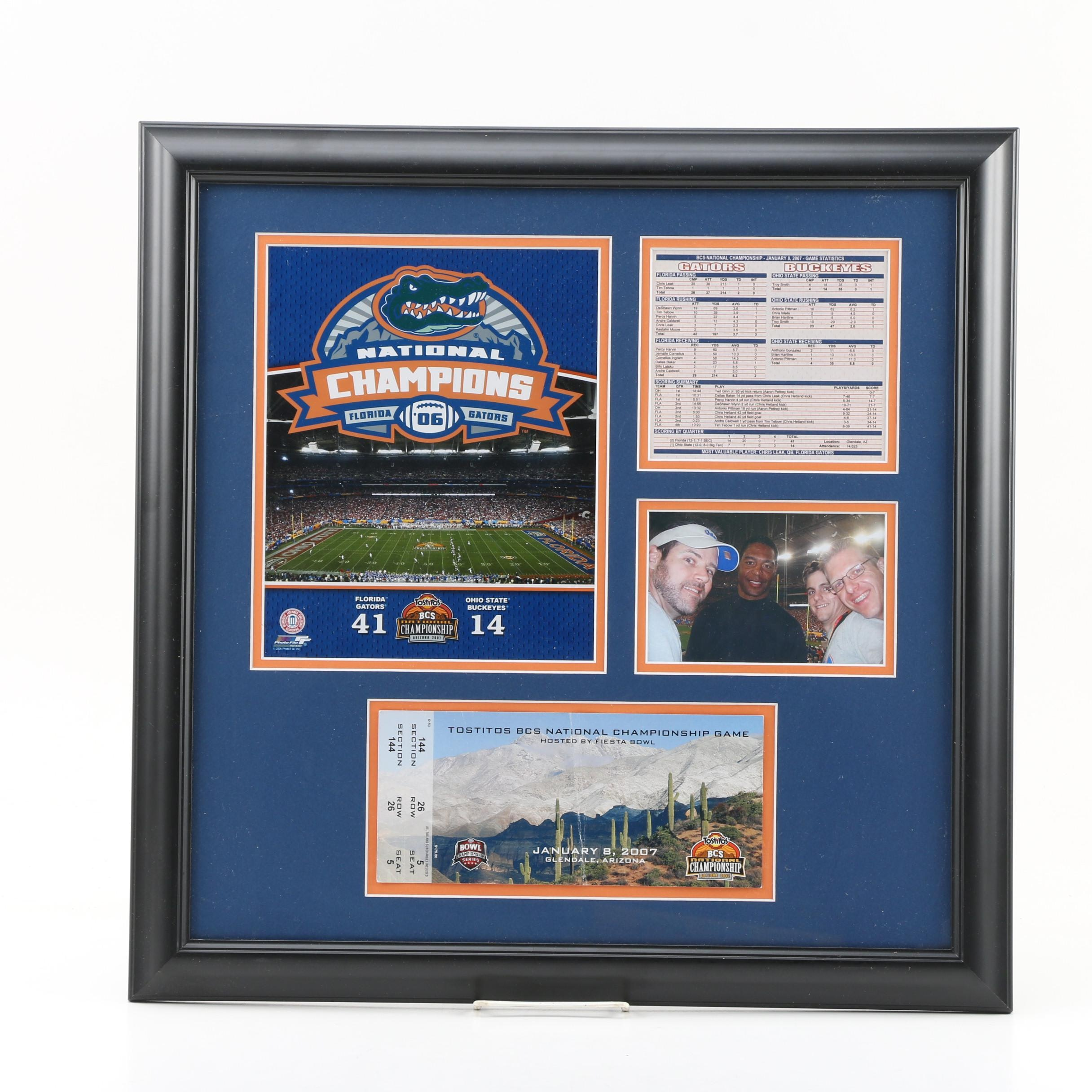2006 Florida Gators National Champions Plaque