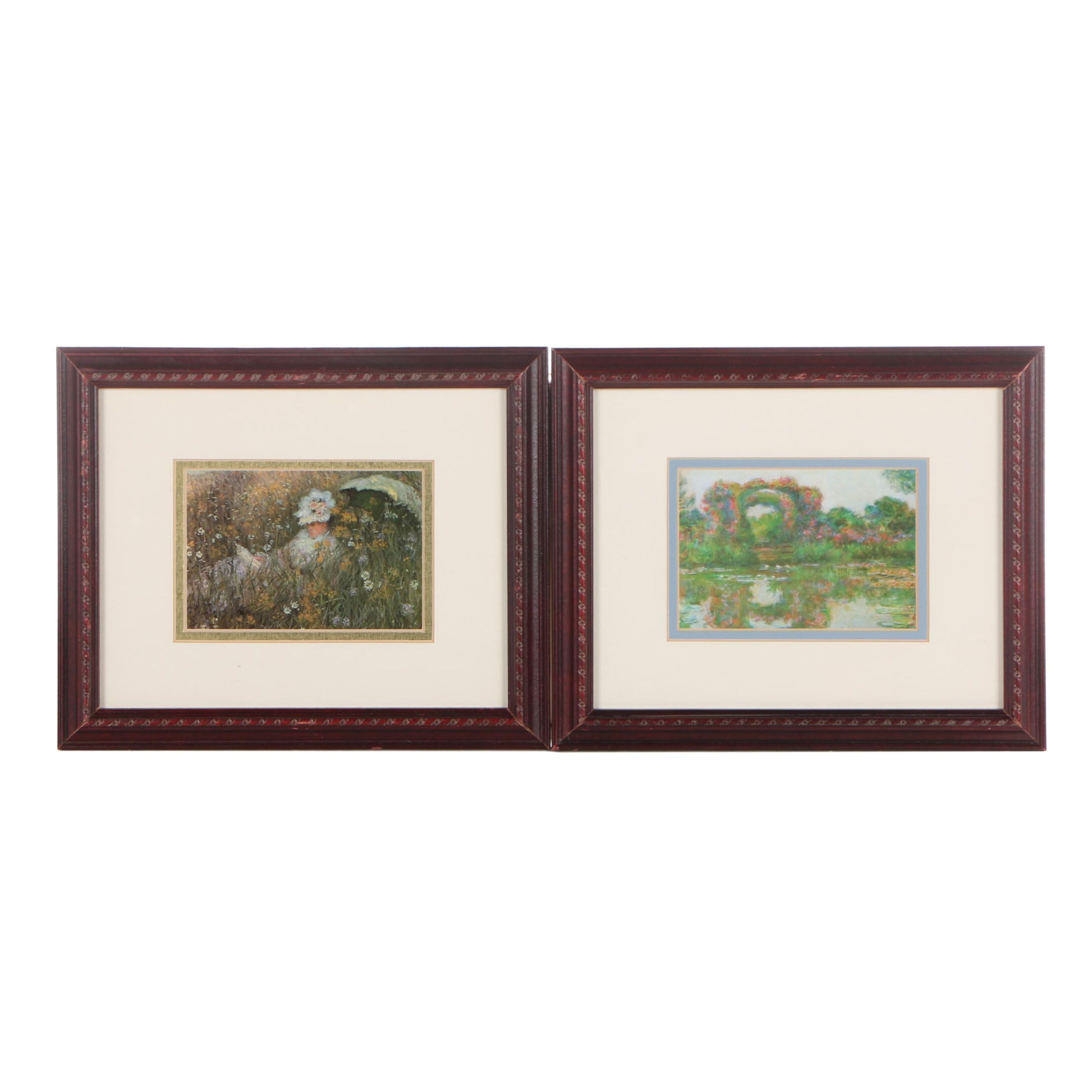 Two Impressionistic Offset Lithographs