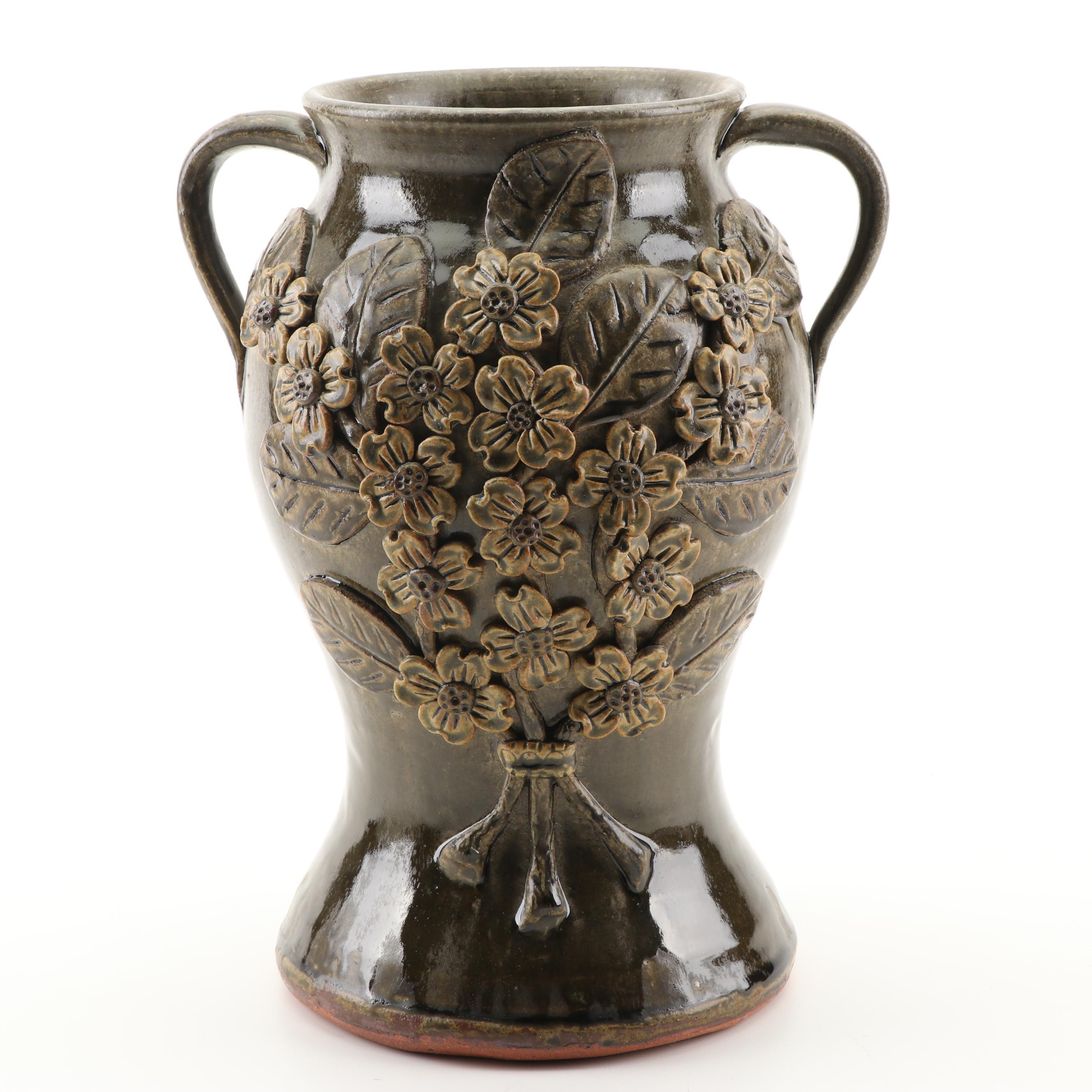 Michael and Pauline Crocker Art Pottery Urn