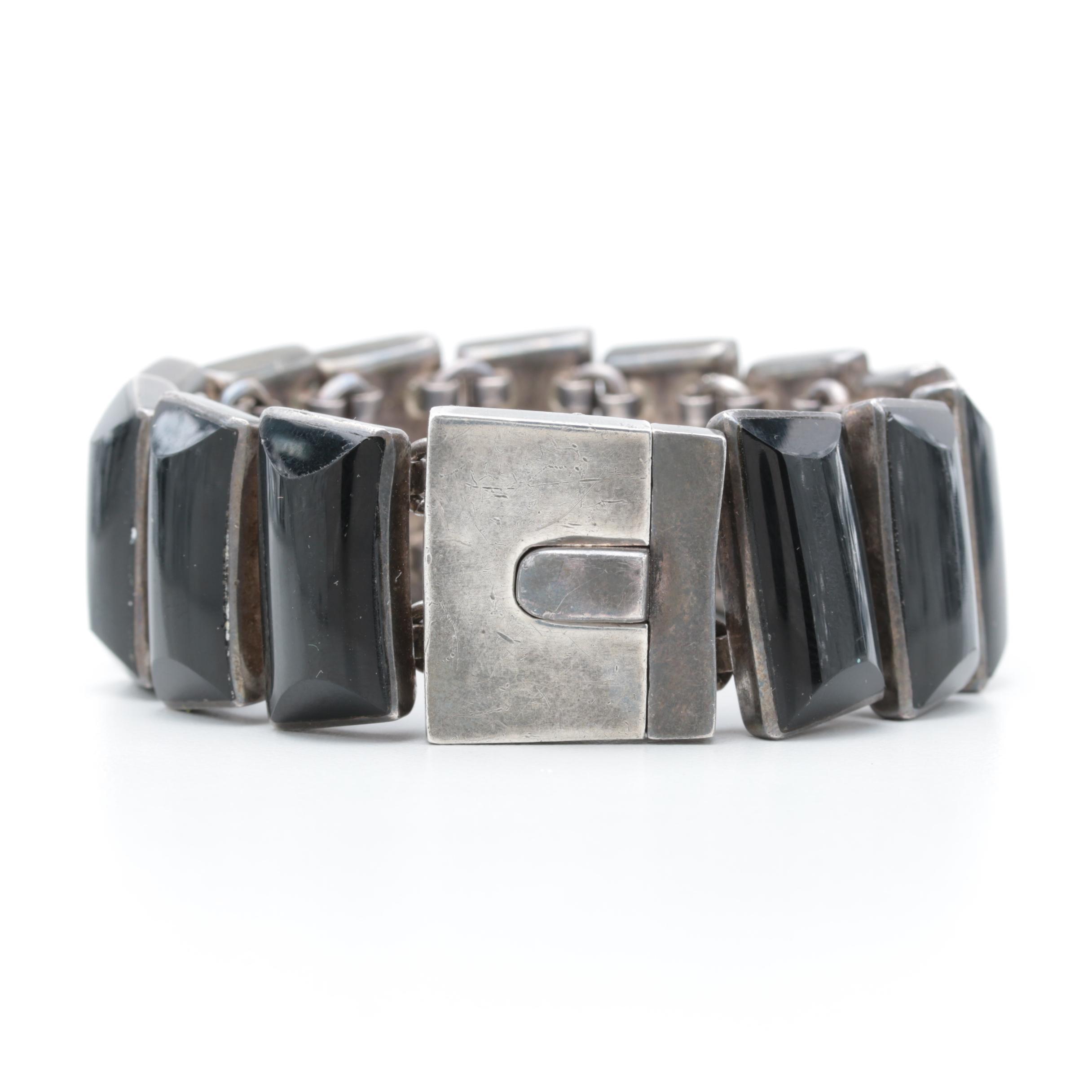 Taxco ODC 950 Silver Glass Bracelet