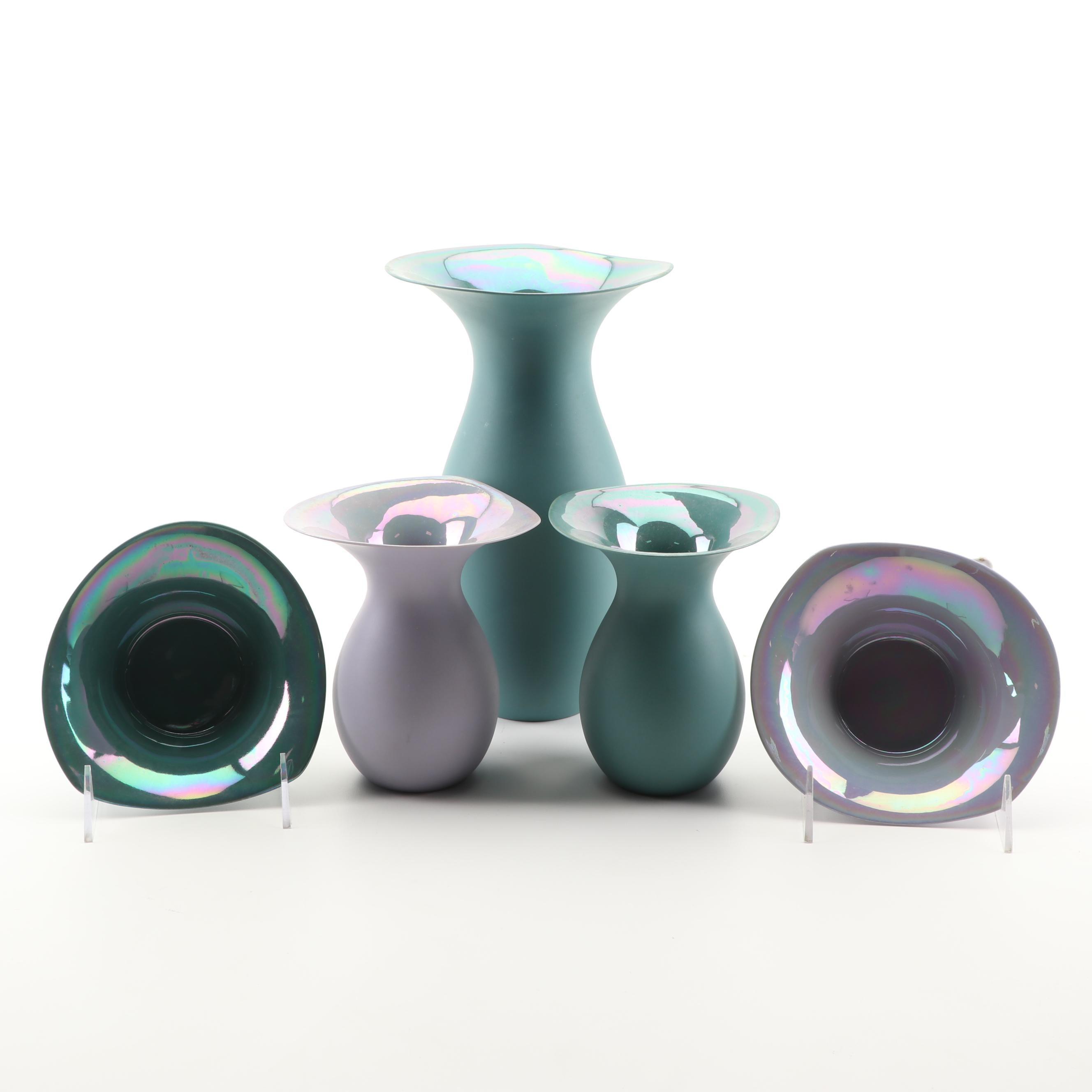 Kathleen Ryall Porcelain Vases and Bowls, 21st Century