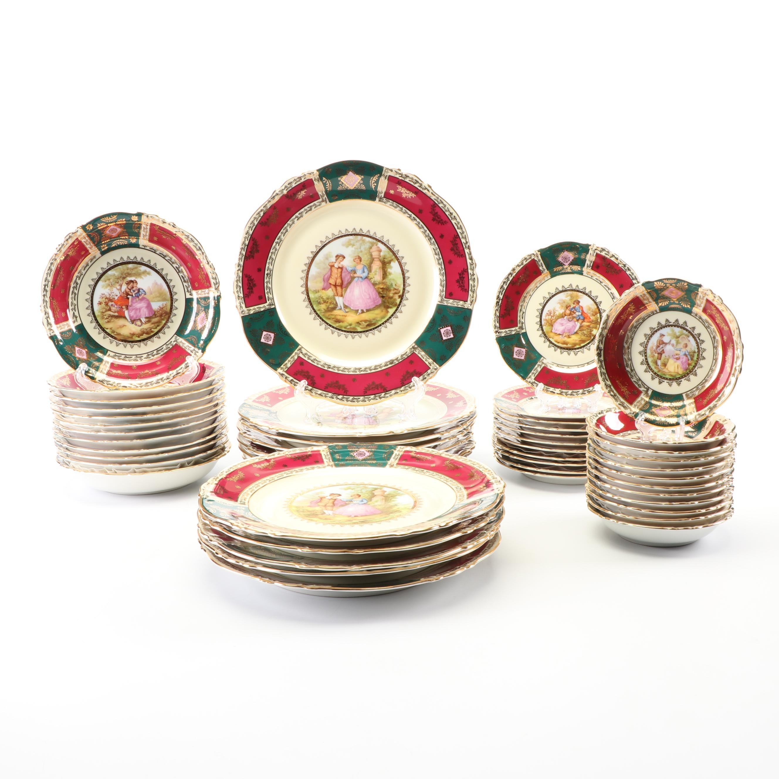 Josef Kuba Porcelain Dinnerware, circa 1945-52