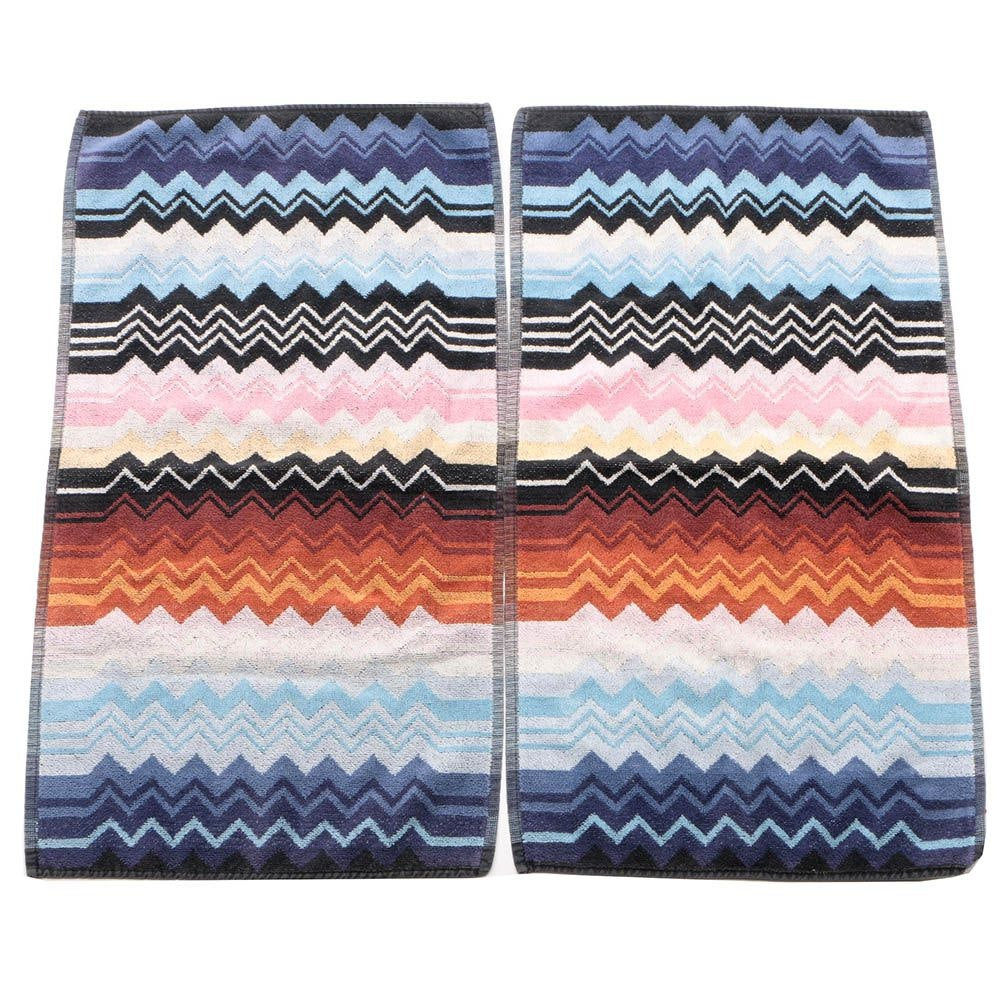 Missoni Italian Cotton Hand Towels, Made in Italy