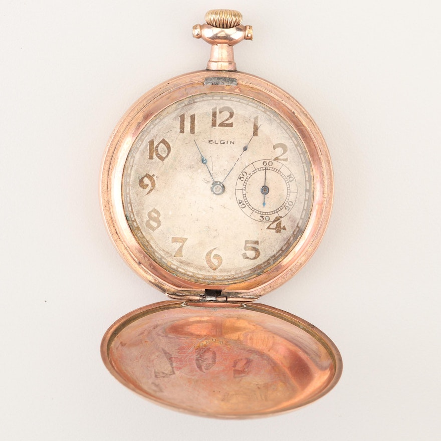 Antique Elgin Gold Filled Pocket Watch