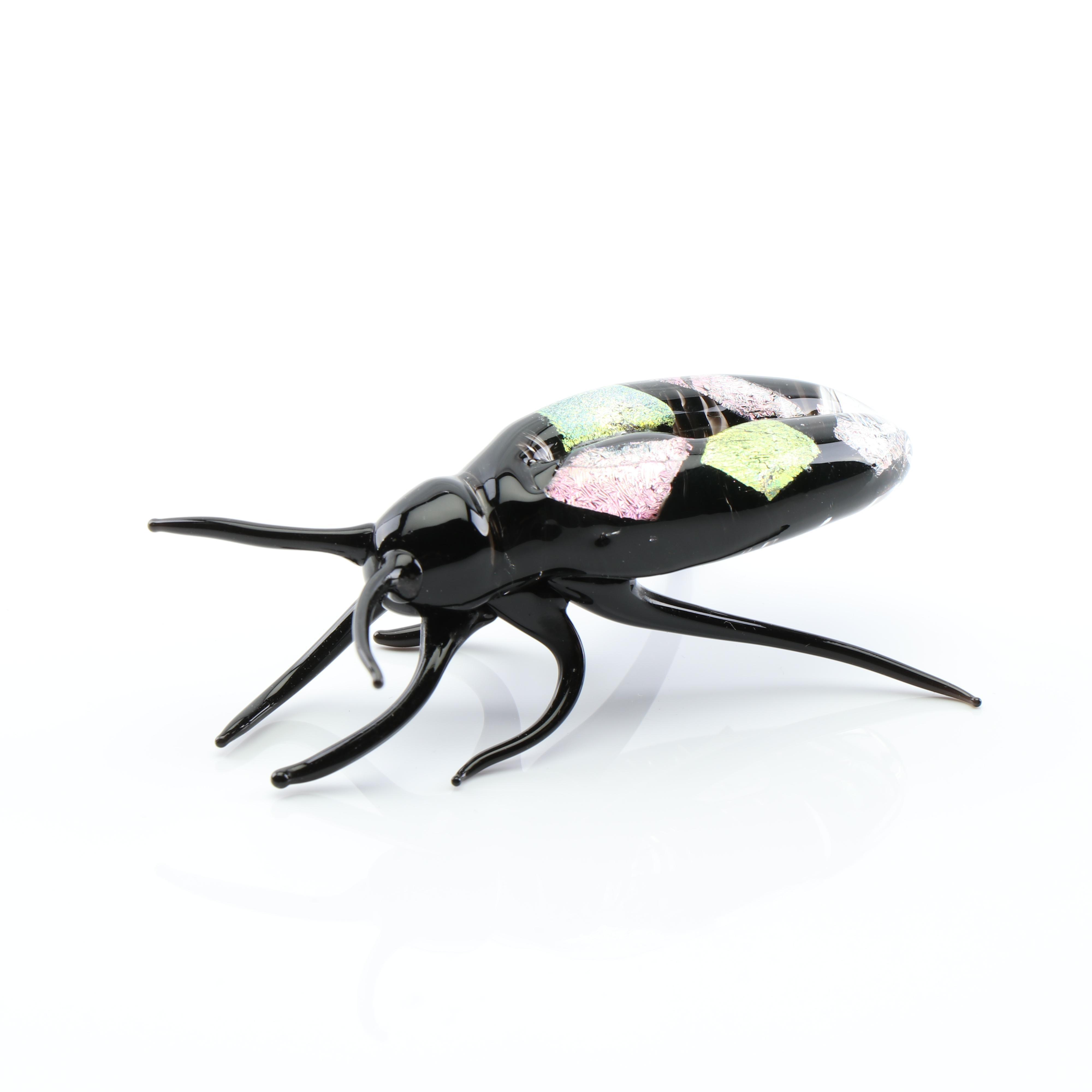 Art Glass Beetle Figurine