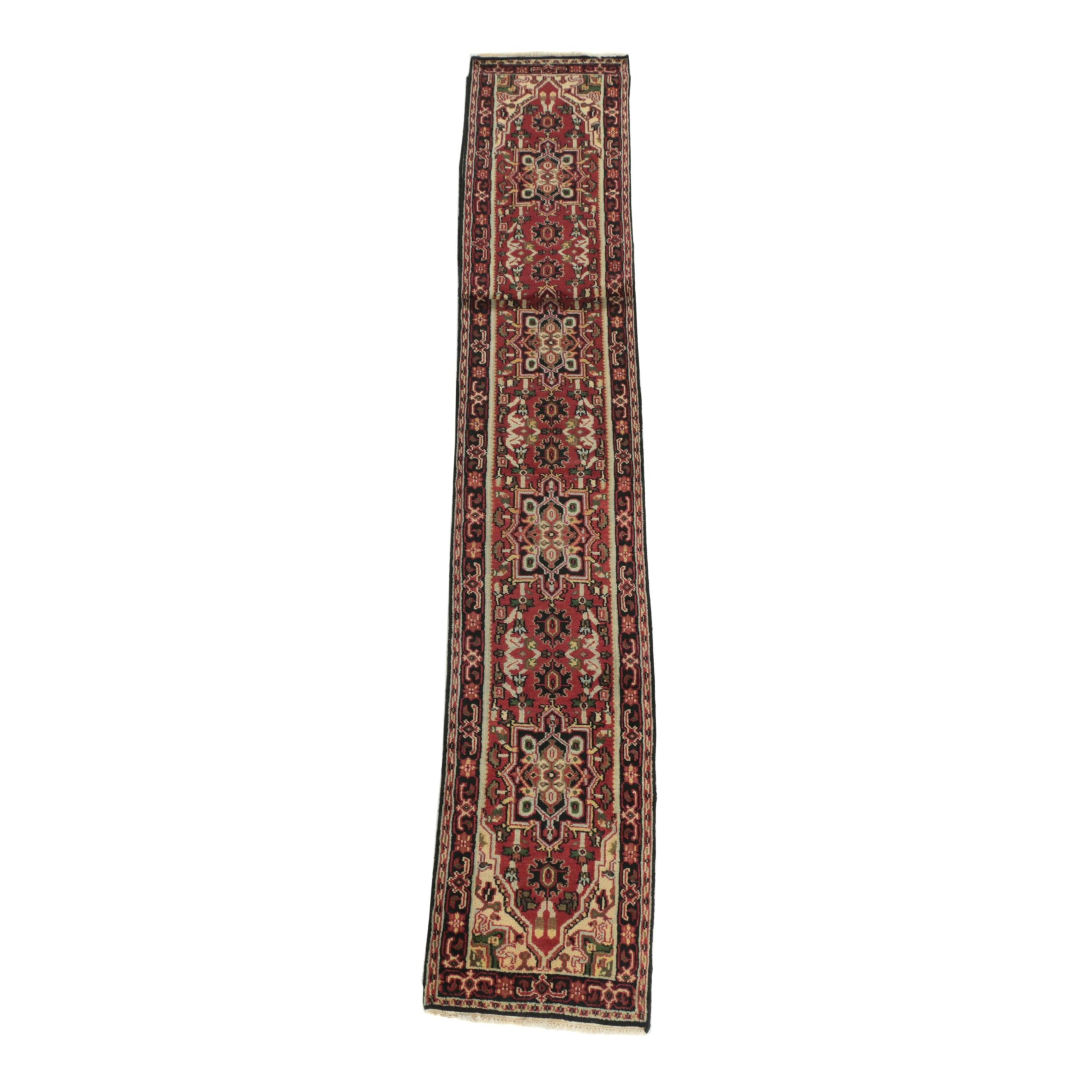 Hand-Knotted Indo-Persian Heriz Wool Palace Sized Runner