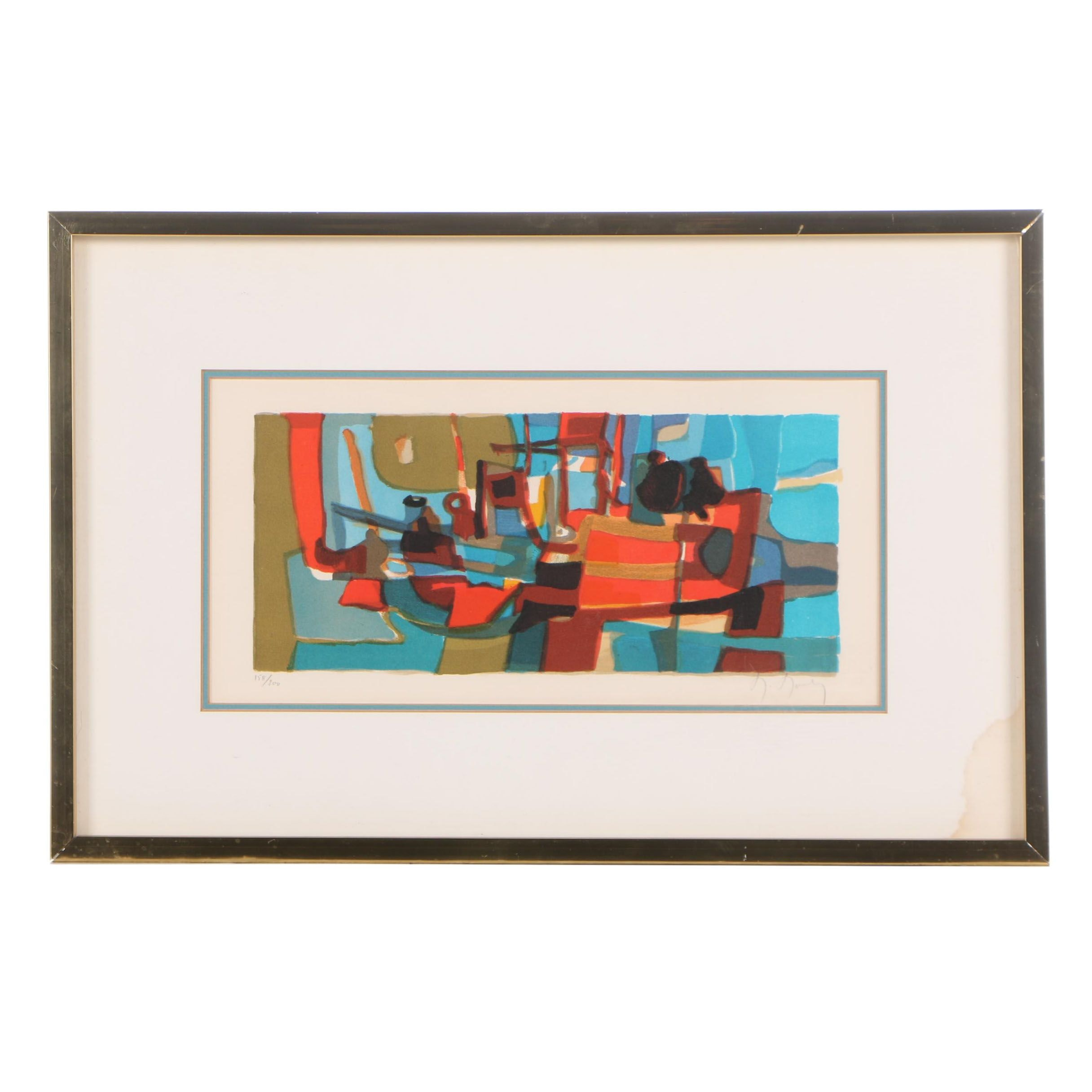 Marcel Mouly Abstract Color Lithograph