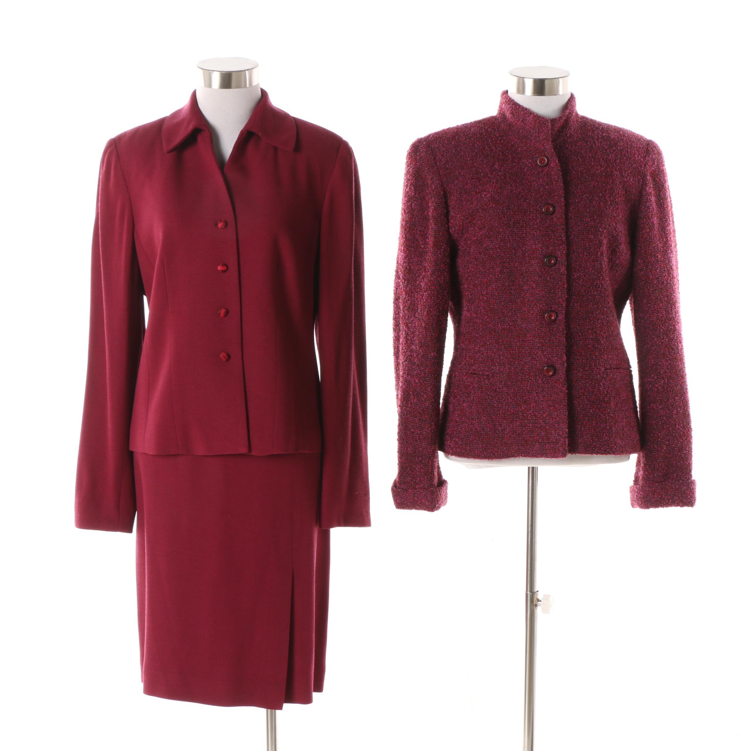 Gianni Wool Blend Skirt Suit
