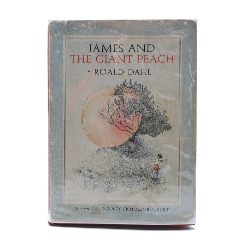 "1961 First Edition, Second Printing ""James and the Giant Peach"" by Roald Dahl"