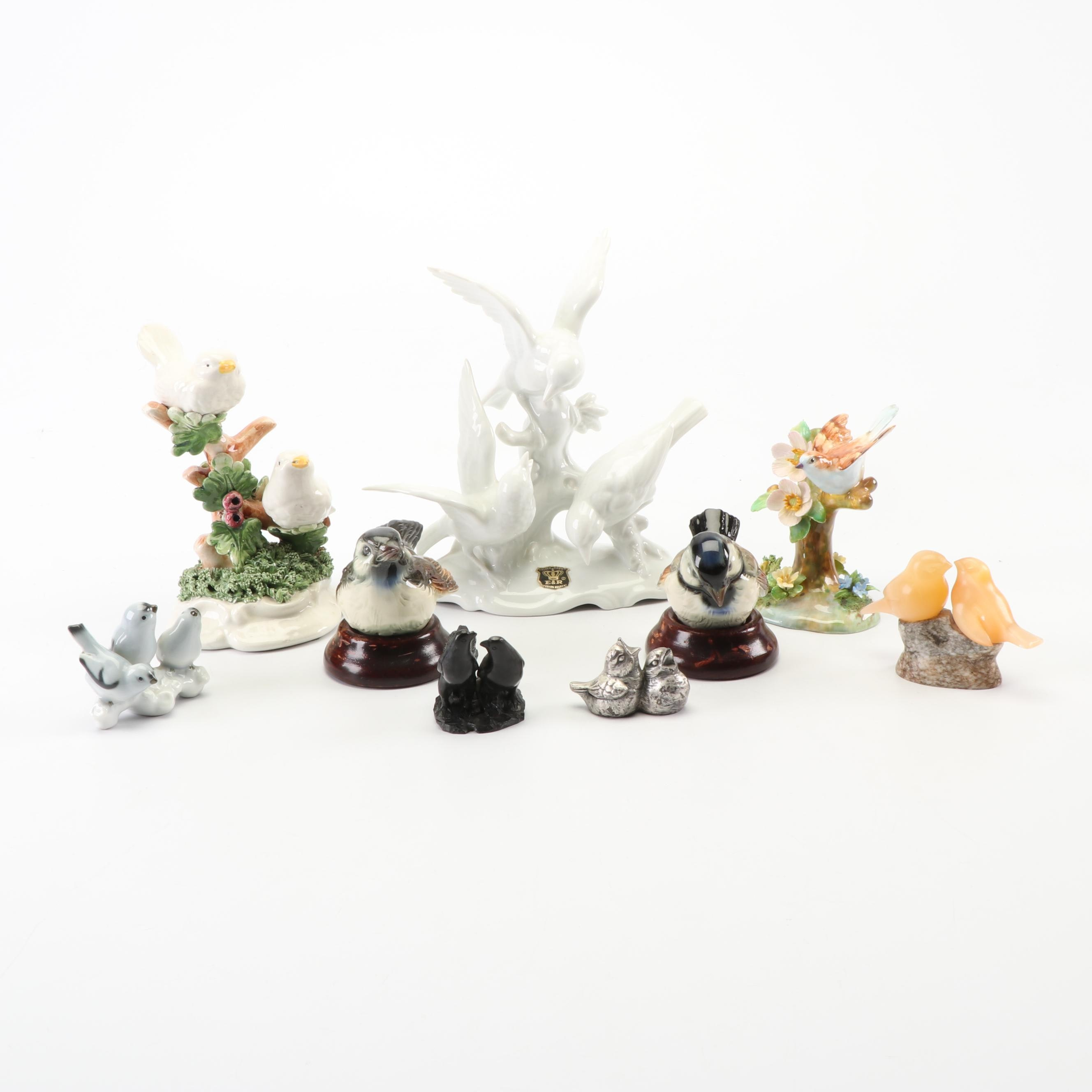 Bird Figurines Including Staffordshire and Goebel