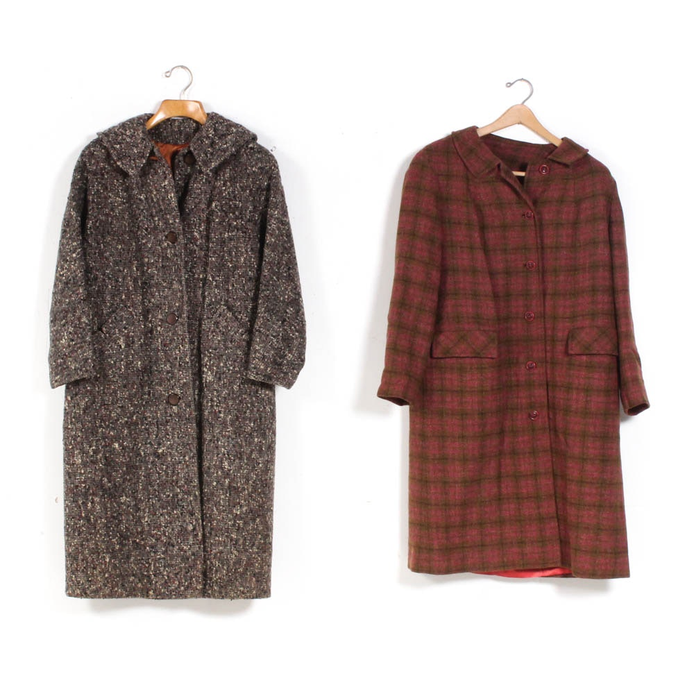 Women's Vintage Wool Coats Featuring Pendelton