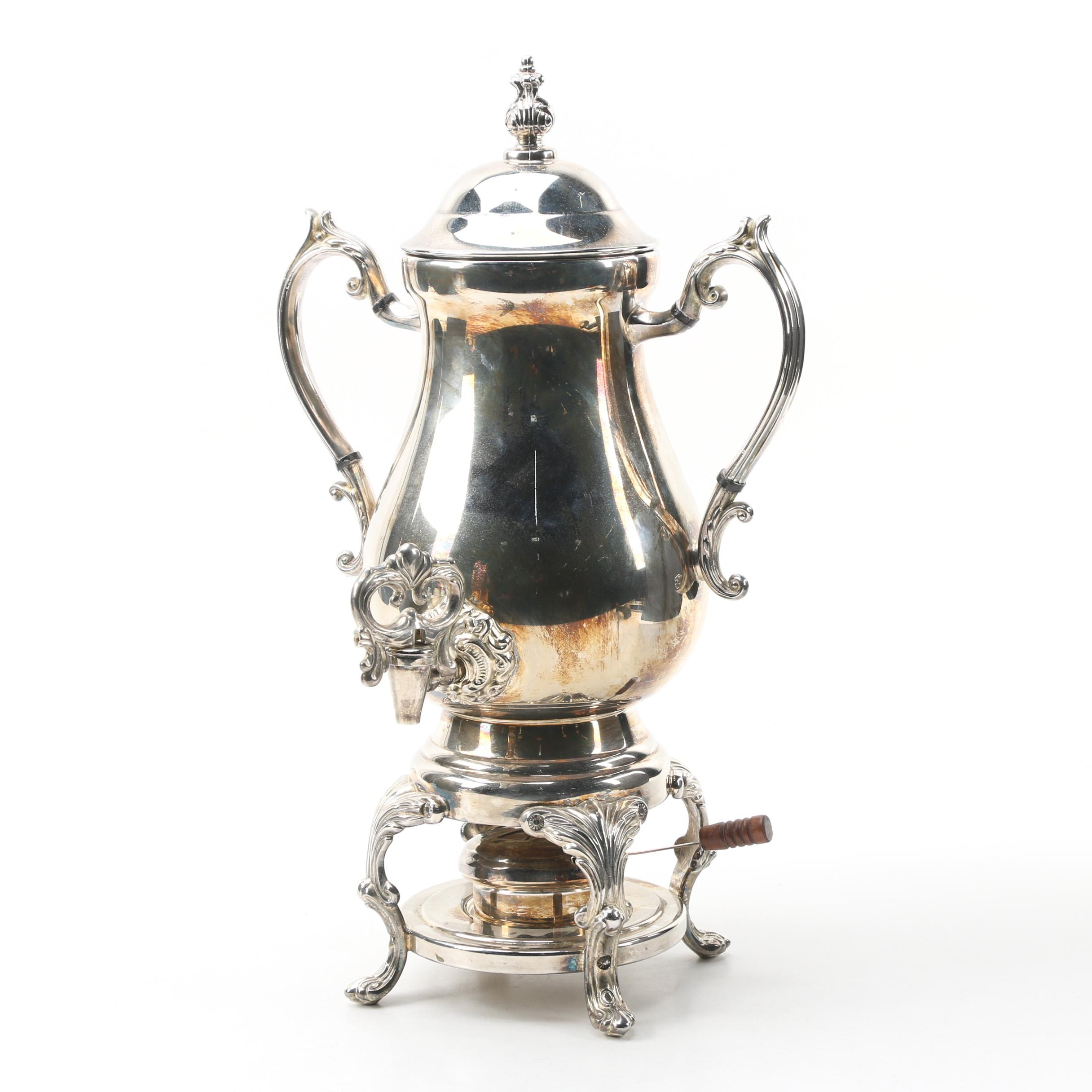 Towle Silver Plate Hot Water Urn, 20th Century