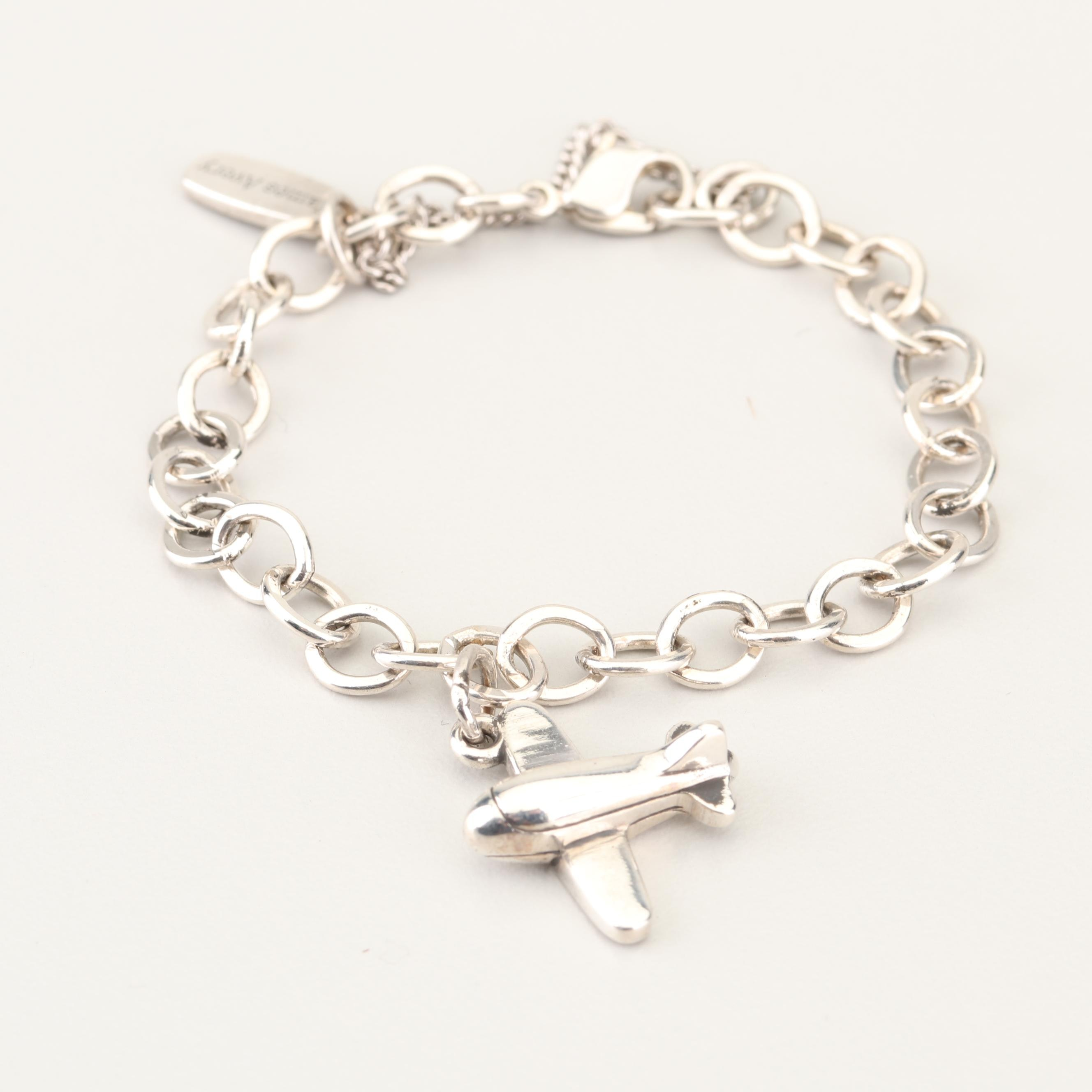 James Avery Sterling Silver Child's Airplane Charm Bracelet