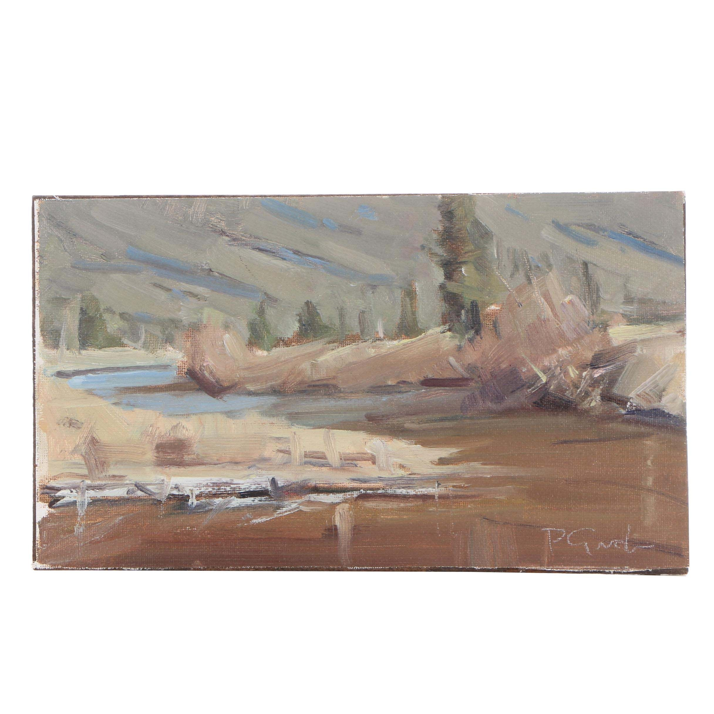 "Peter Grab 2018 Oil Painting ""Conejos River"""