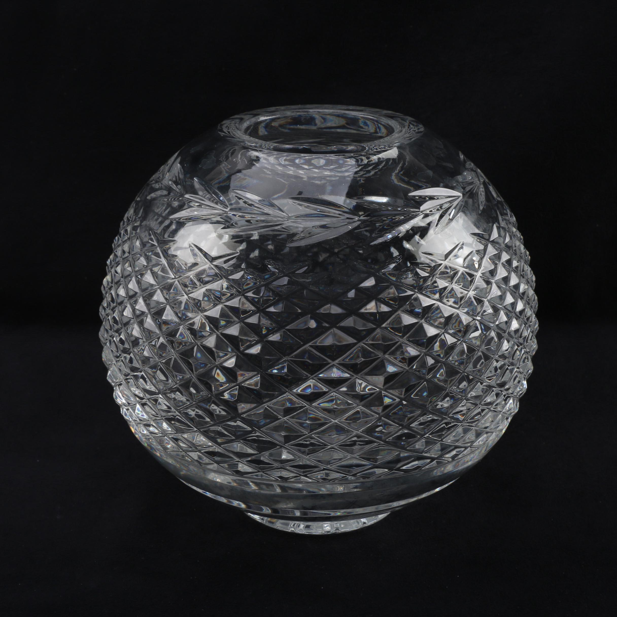 "Waterford Crystal ""Glandore"" Rose Bowl"