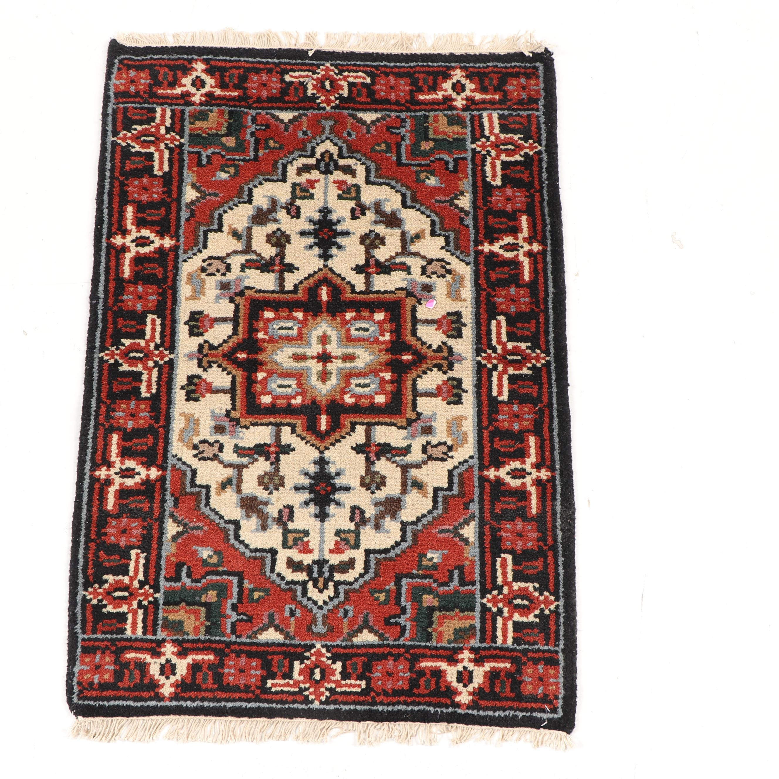 Hand-Knotted Indo-Heriz Wool Rug