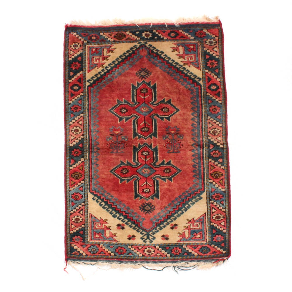 Hand-Knotted Turkish Doesmealti Rug