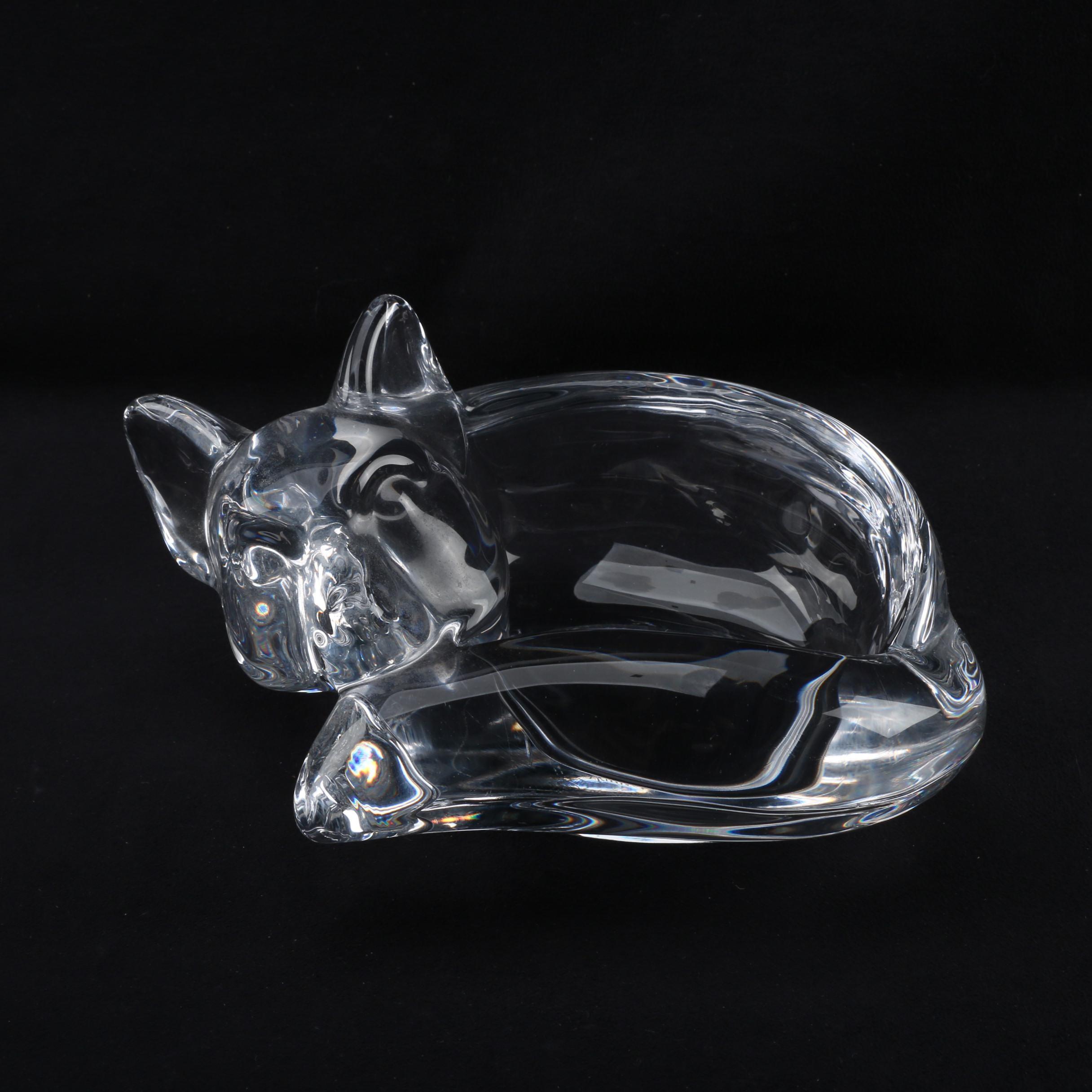 Art Vannes Crystal Fox Dish