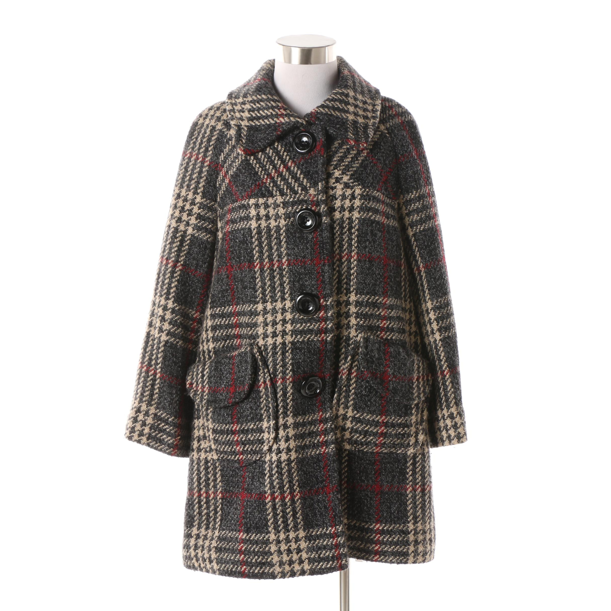 Miss Sixty Collection Wool Blend Tweed Stroller Coat
