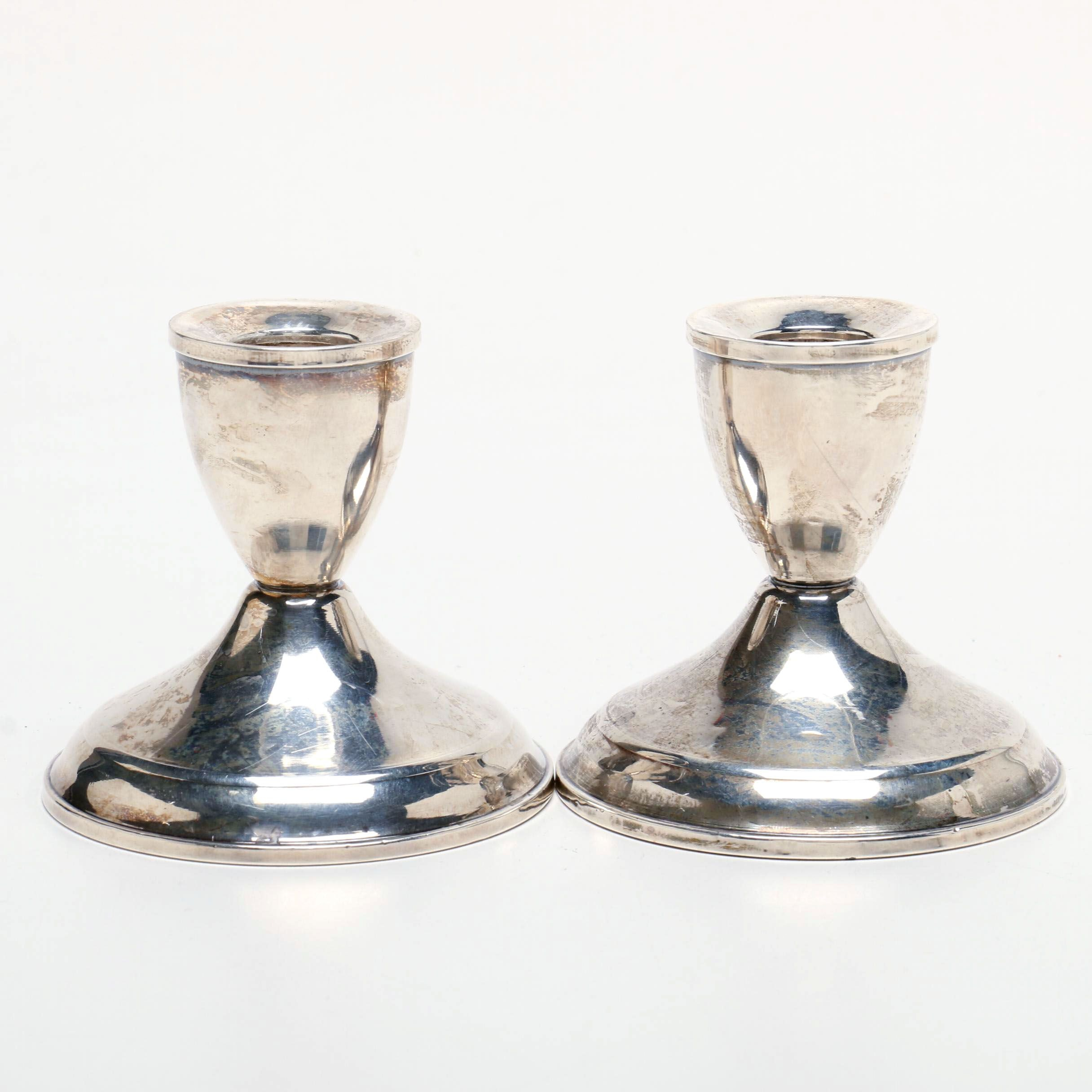 Duchin Creation Weighted Sterling Silver Candle Holders
