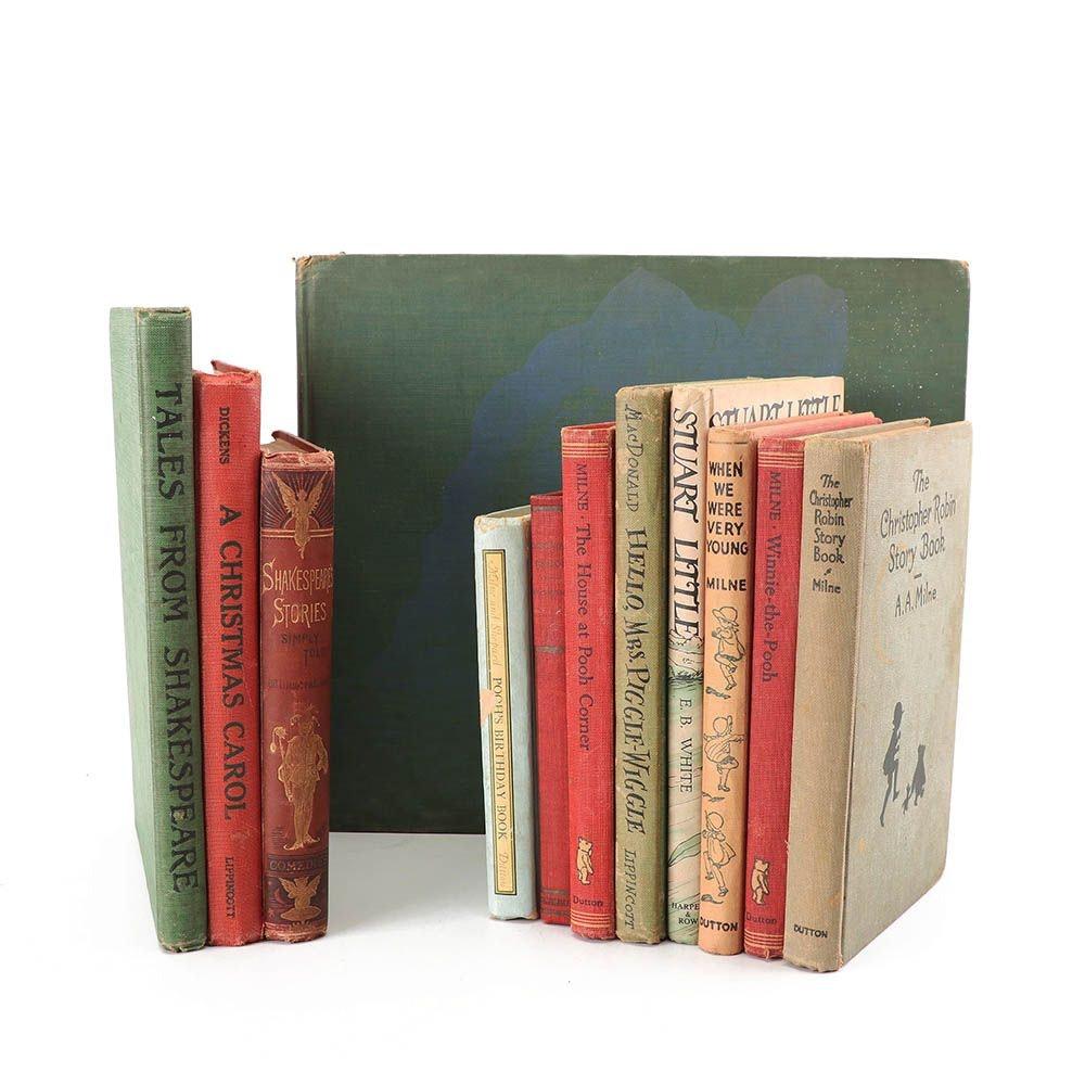 "Children's Fiction Books including 1945 ""Stuart Little"" and ""A Christmas Carol"""