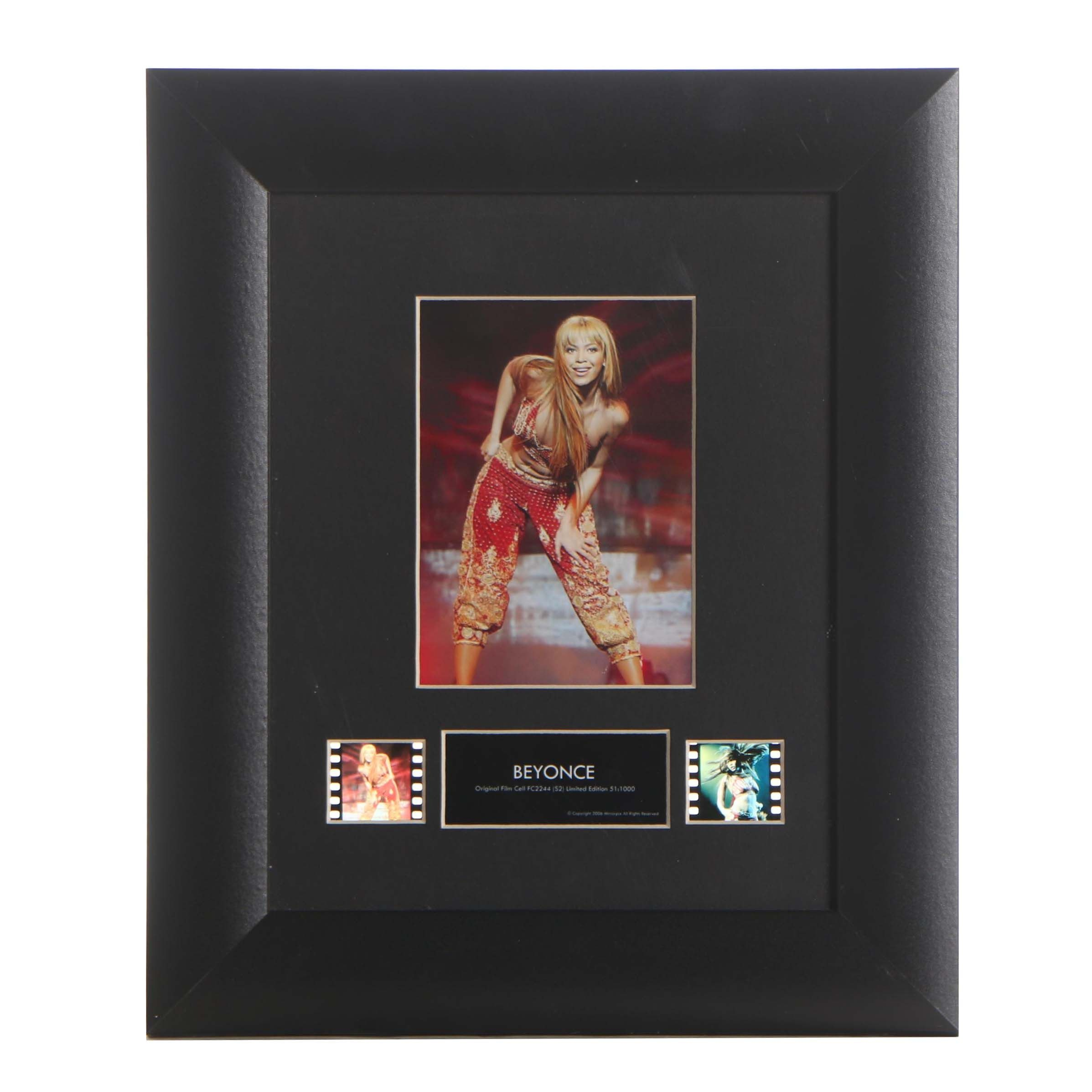 Beyonce Framed Color Photograph and Film Cells