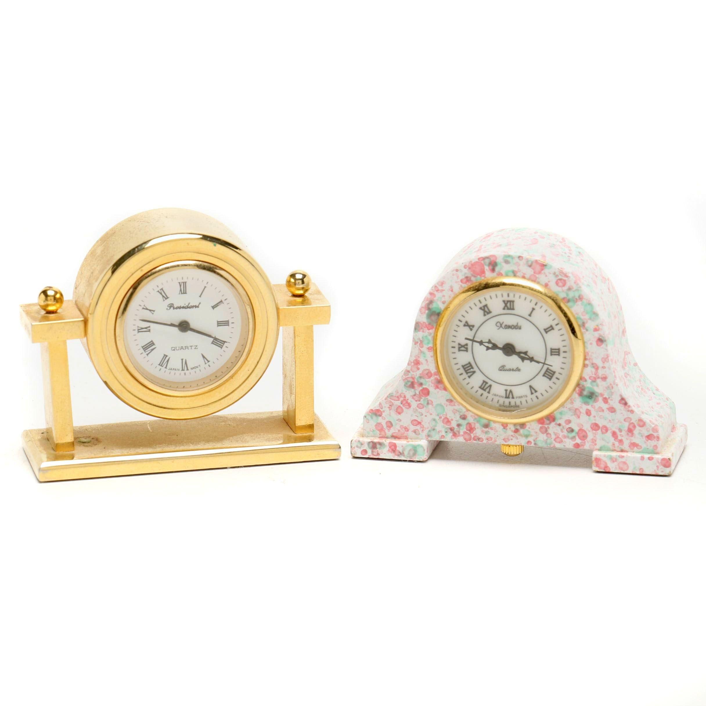Miniature Desk or Dresser Clocks
