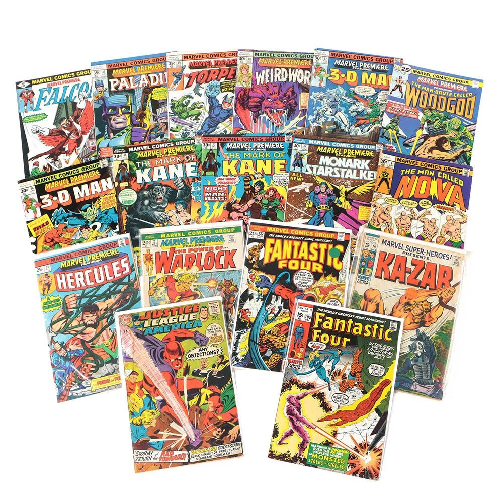 "Assorted Comic Books Including ""Marvel Premiere"", ""Fantastic Four"", and ""Ka-zar"""