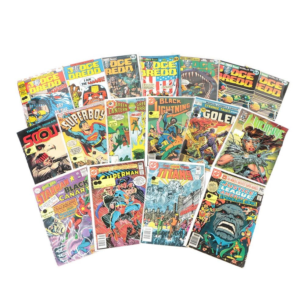 "1980s Comic Books including ""Black Lightning"", ""Justice League"", and More"