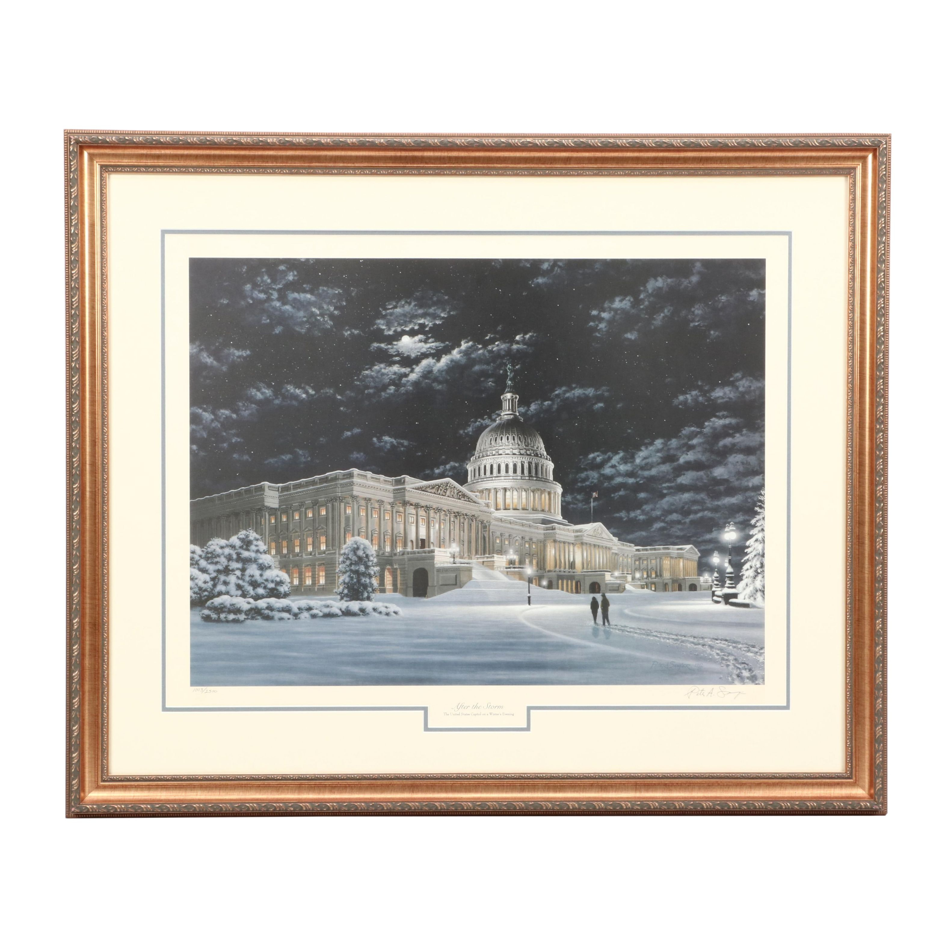 """Peter Sawyer Limited Edition Offset Lithograph """"After the Storm"""""""