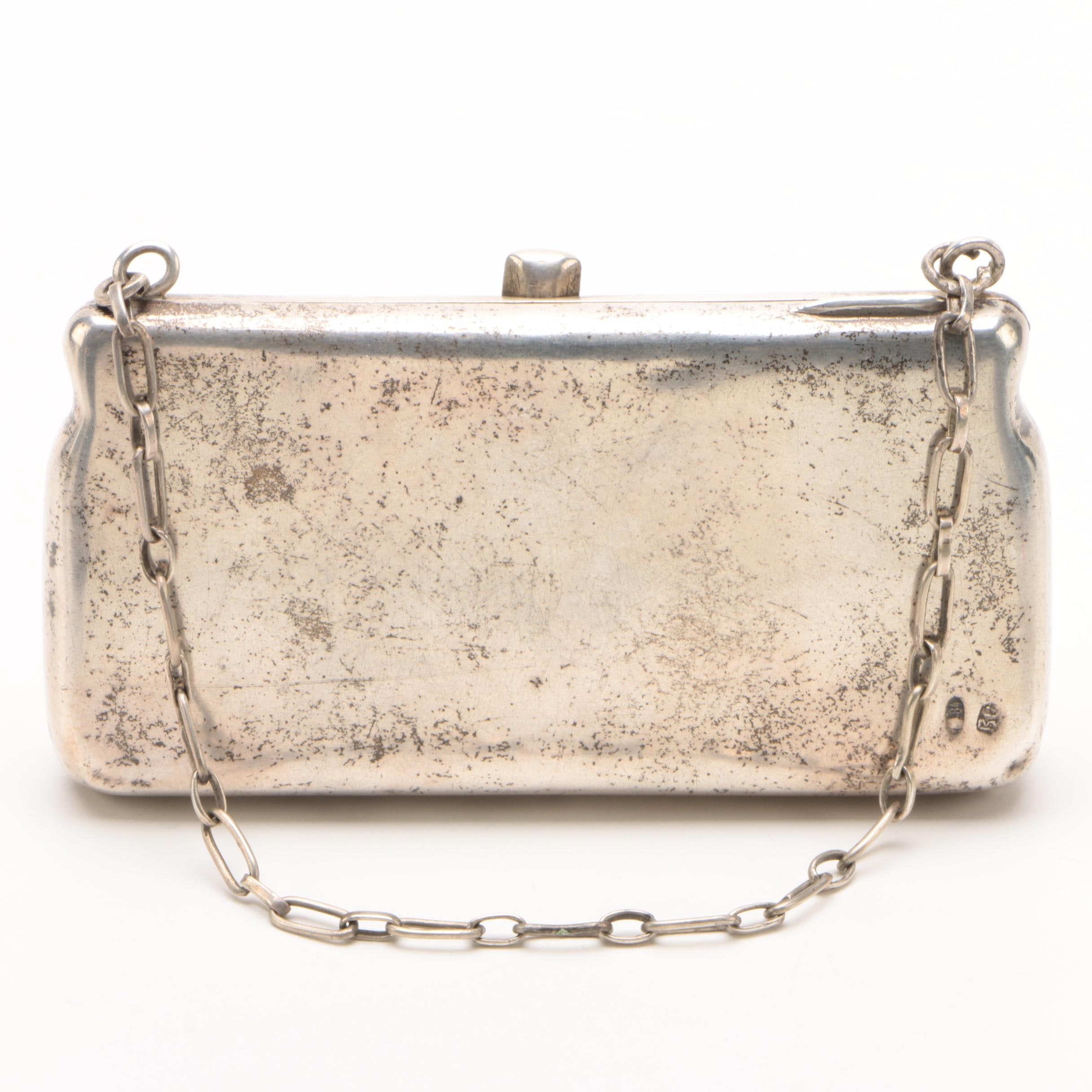 Russian 875 Silver Purse, Early 20th Century