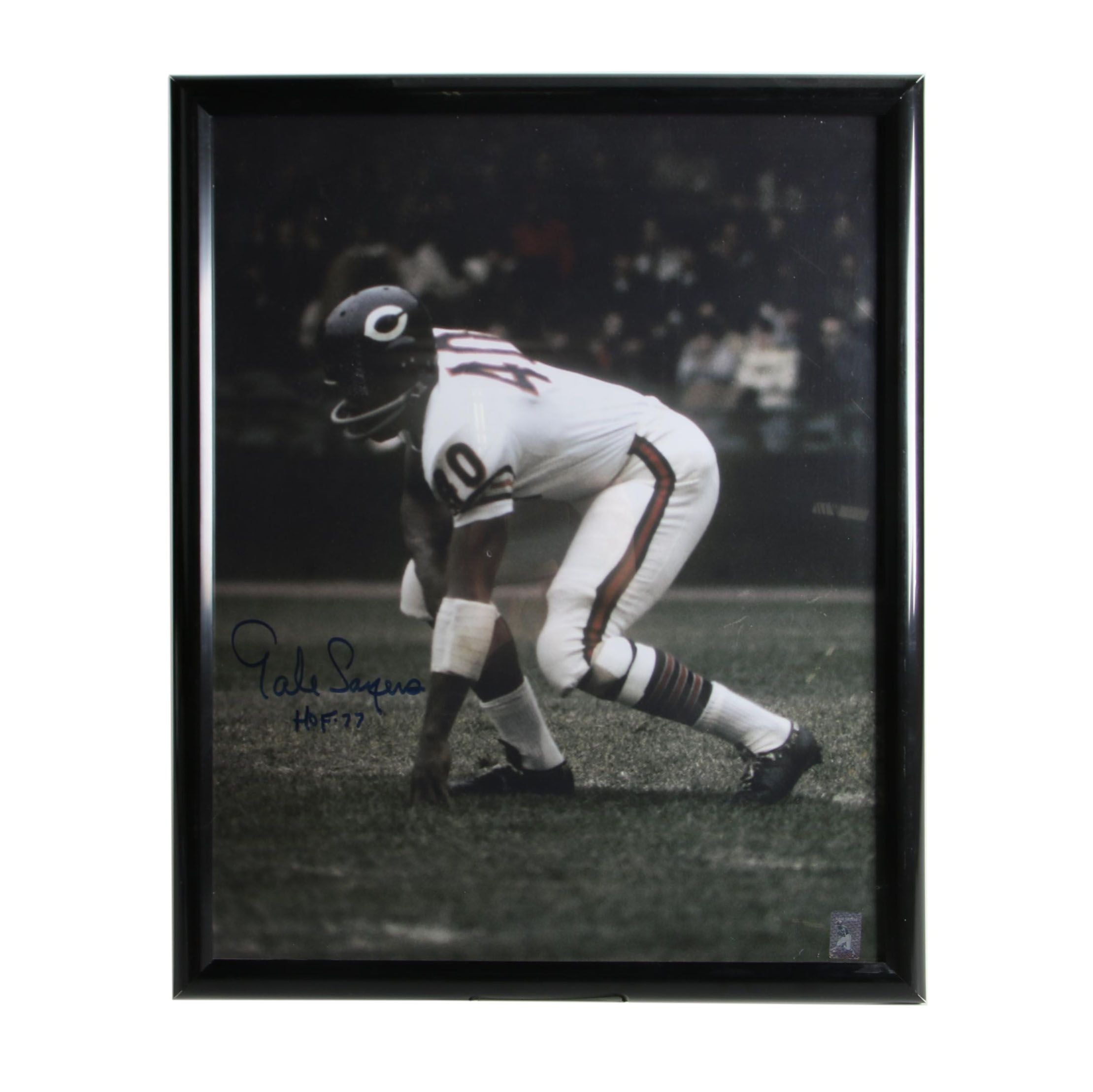 Gale Sayers Autographed Framed Photo