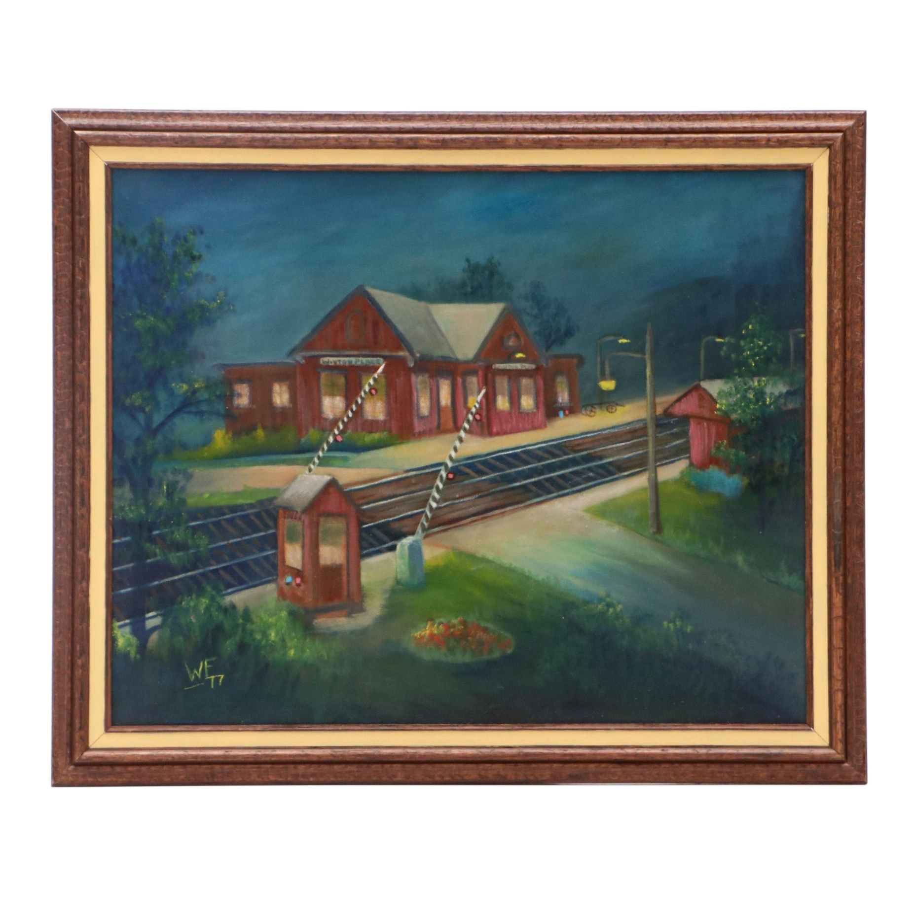 Walter Fulmer Oil Painting of Train Depot