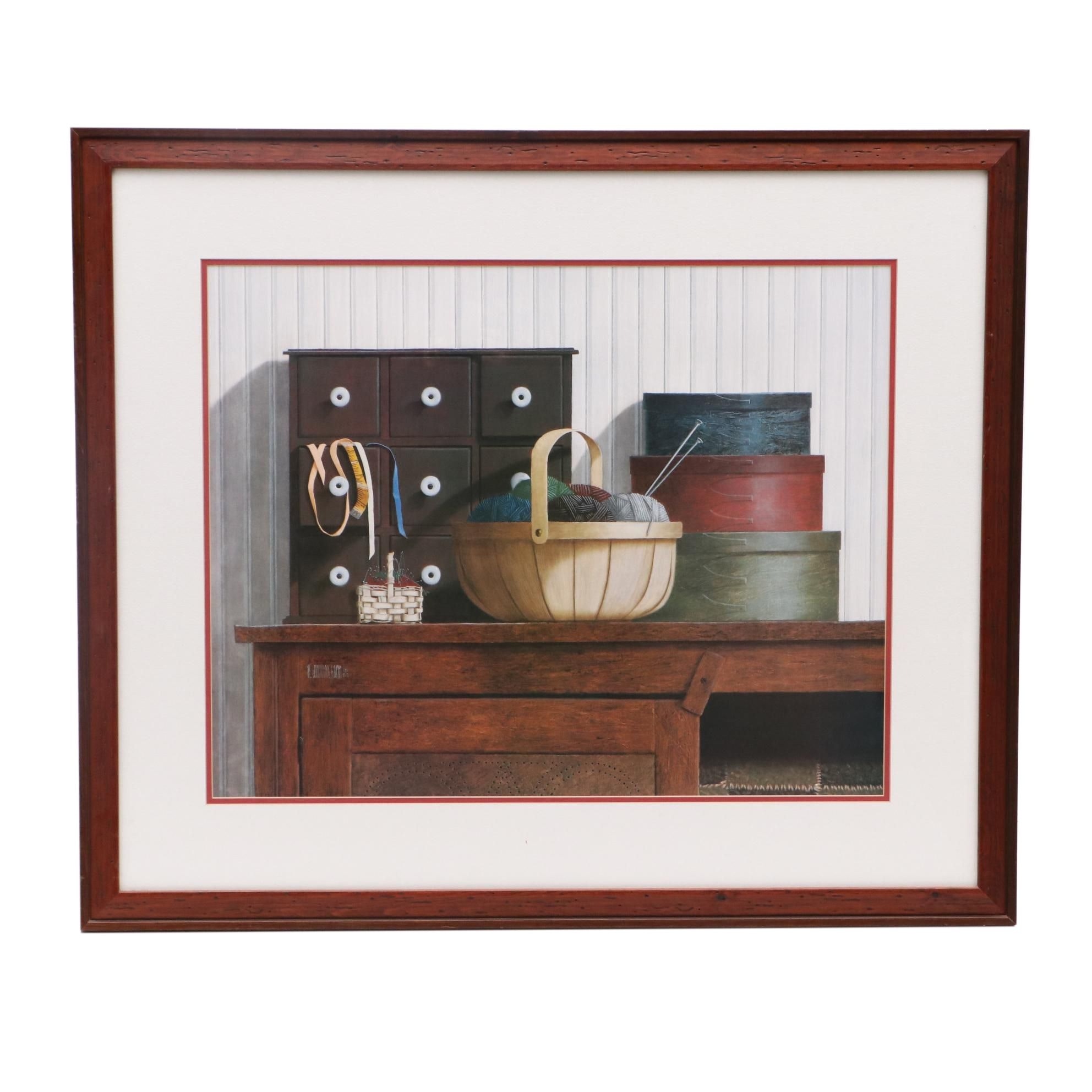 Ron Wickersham Limited Edition Offset Lithograph of Interior Tableau