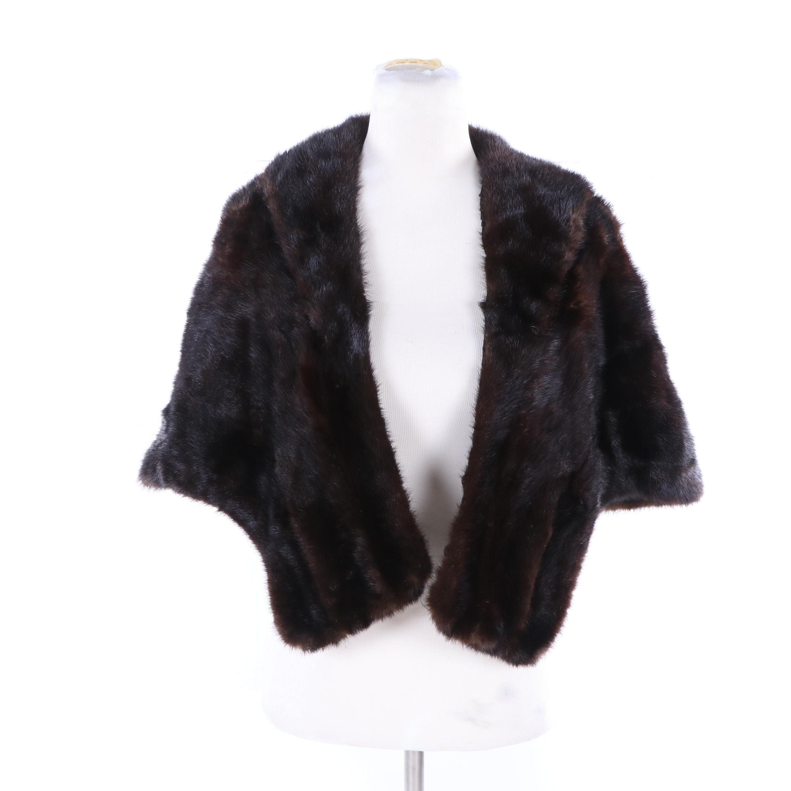 Vintage Jordan Marsh Dyed Beaver Fur Stole