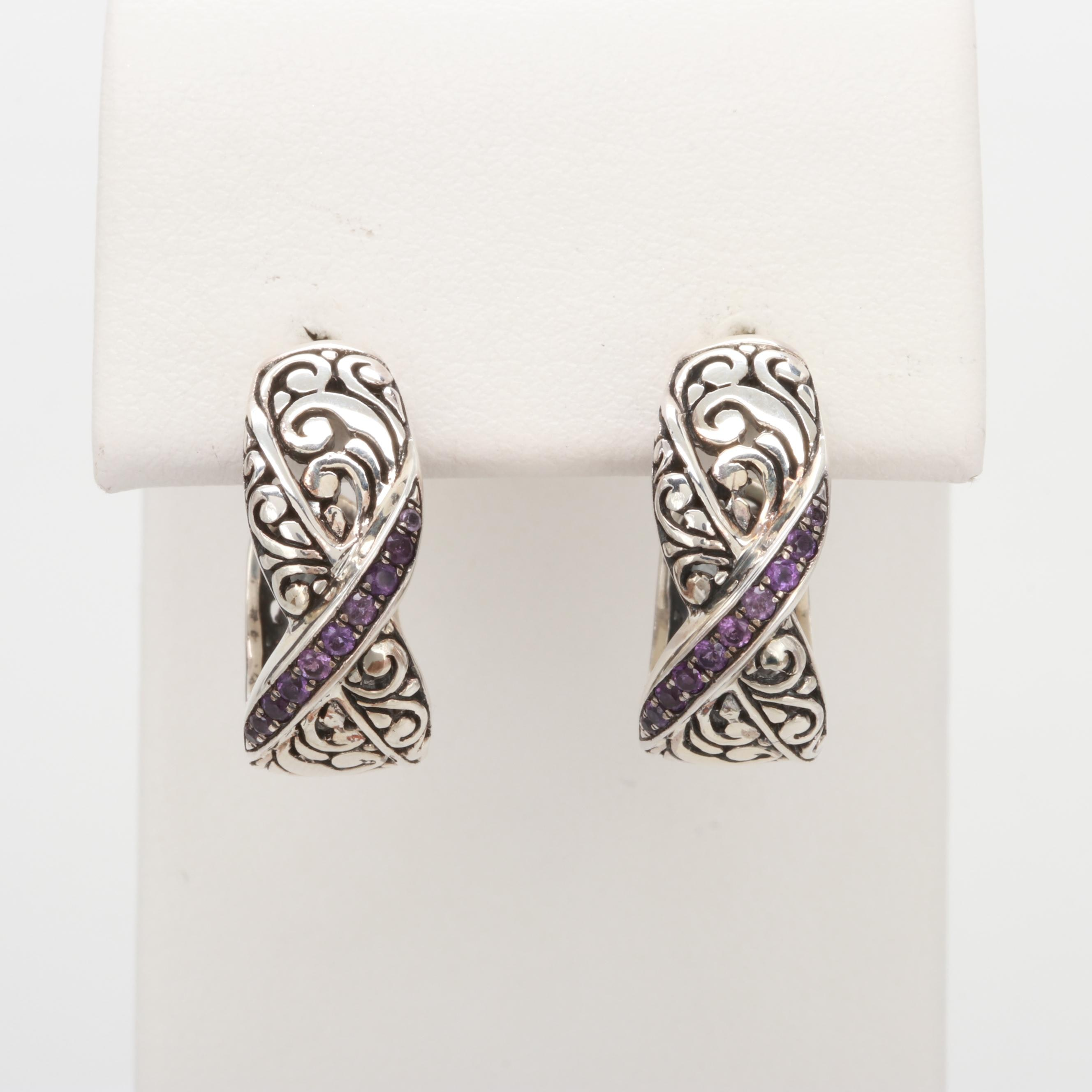 Robert Manse Sterling Silver Amethyst Earrings