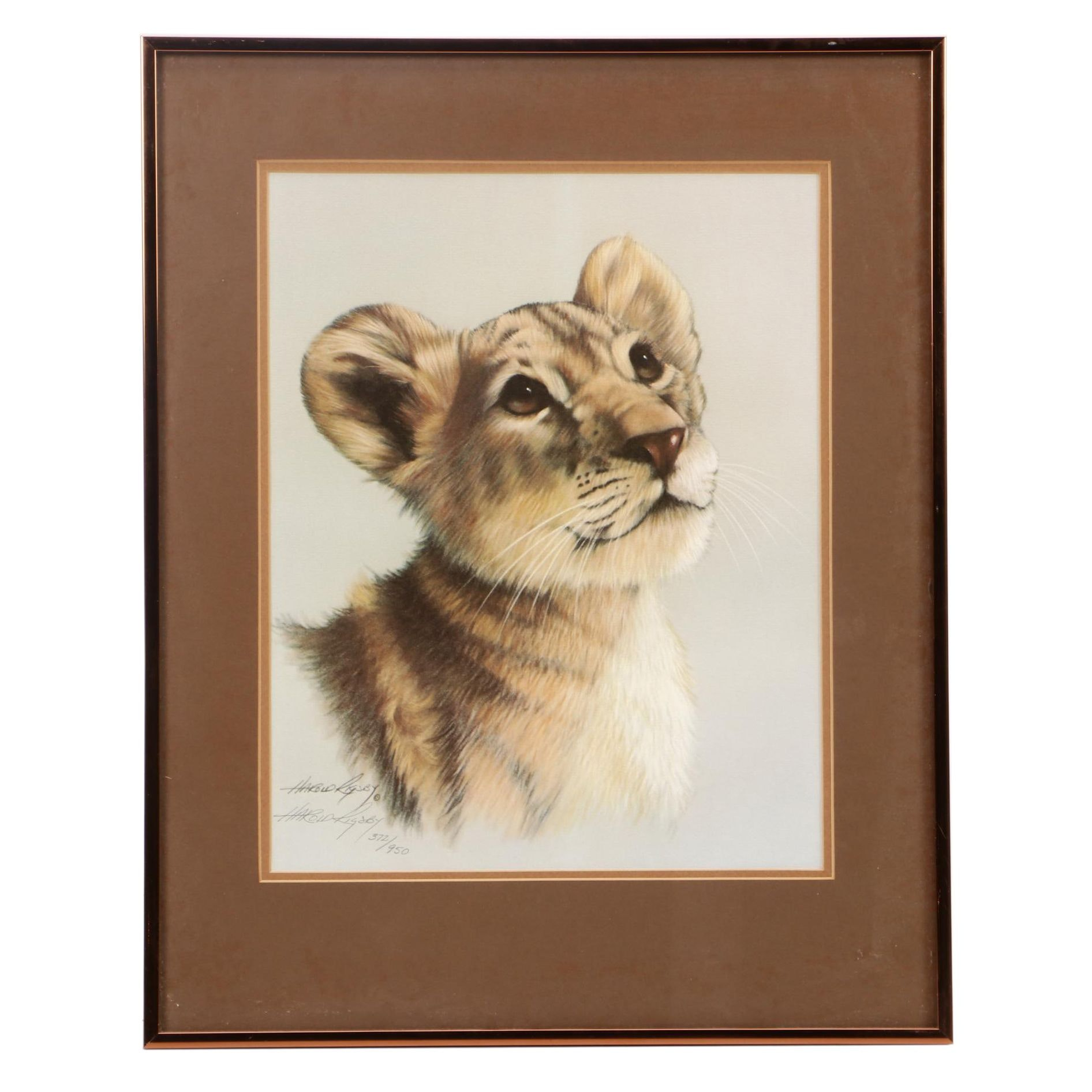Harold Rigsby Limited Edition Offset Lithograph of Tiger Cub