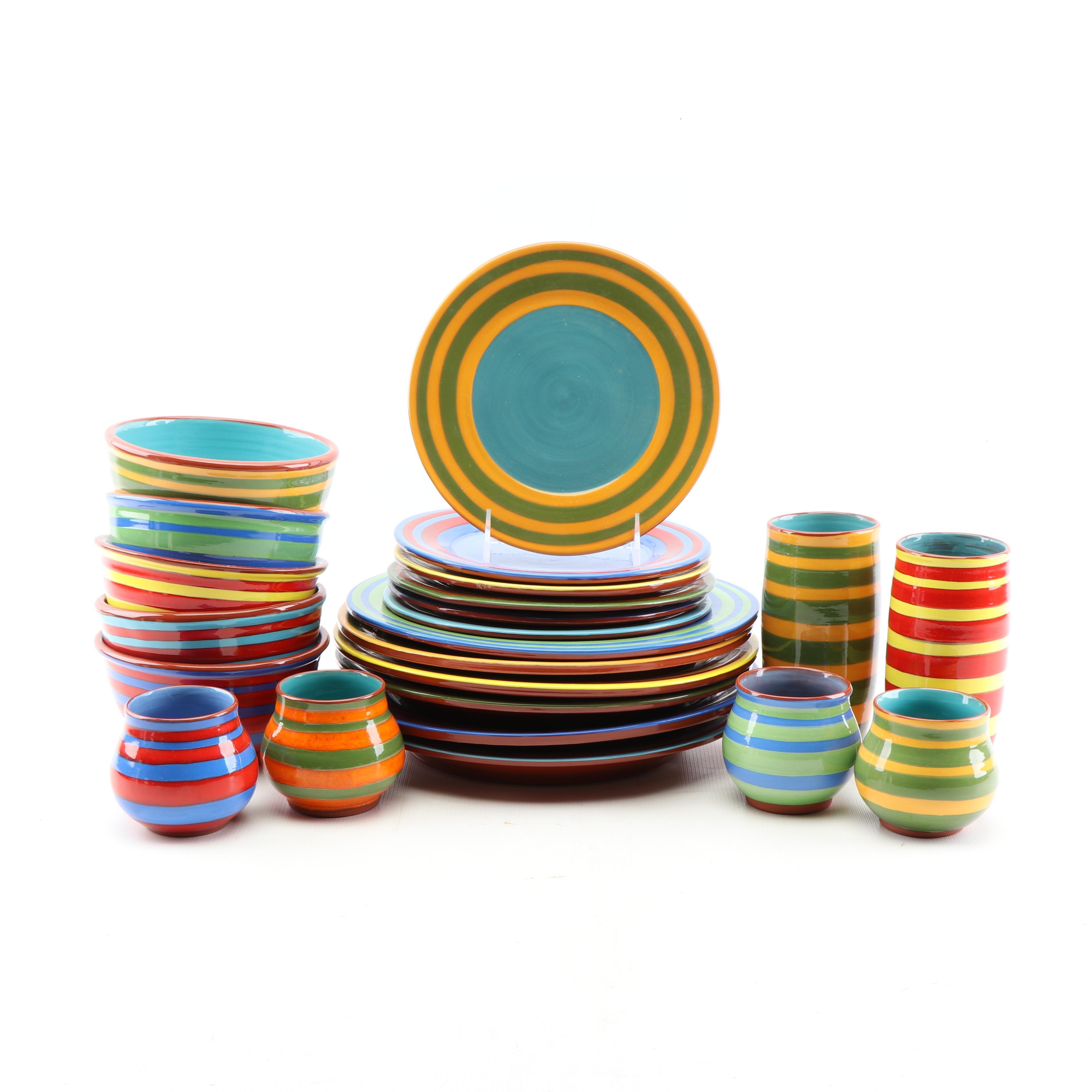 "Ellen Reznick ""Rezware"" Art Pottery Tableware"
