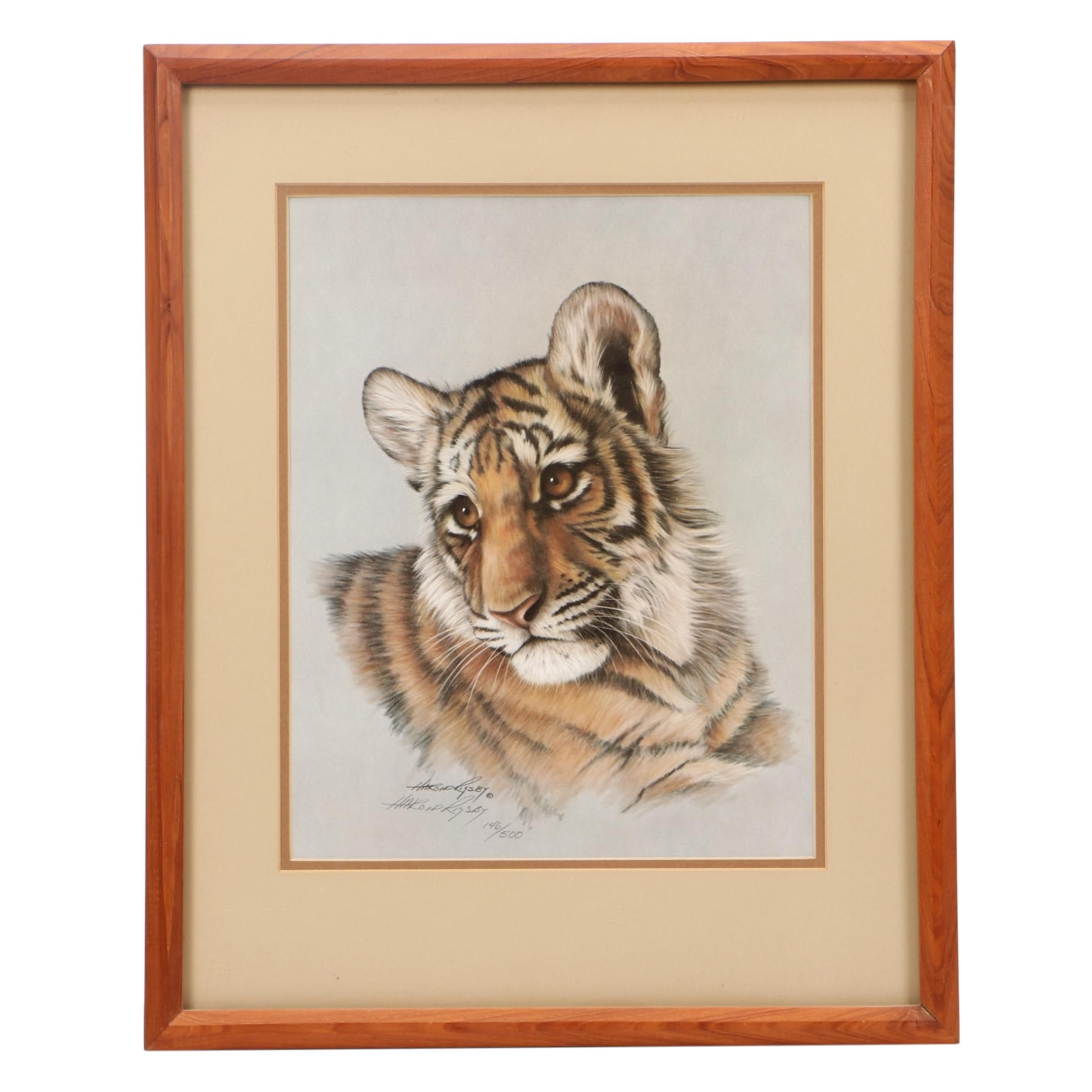 Harold Rigsby Limited Edition Offset Lithograph of Tiger