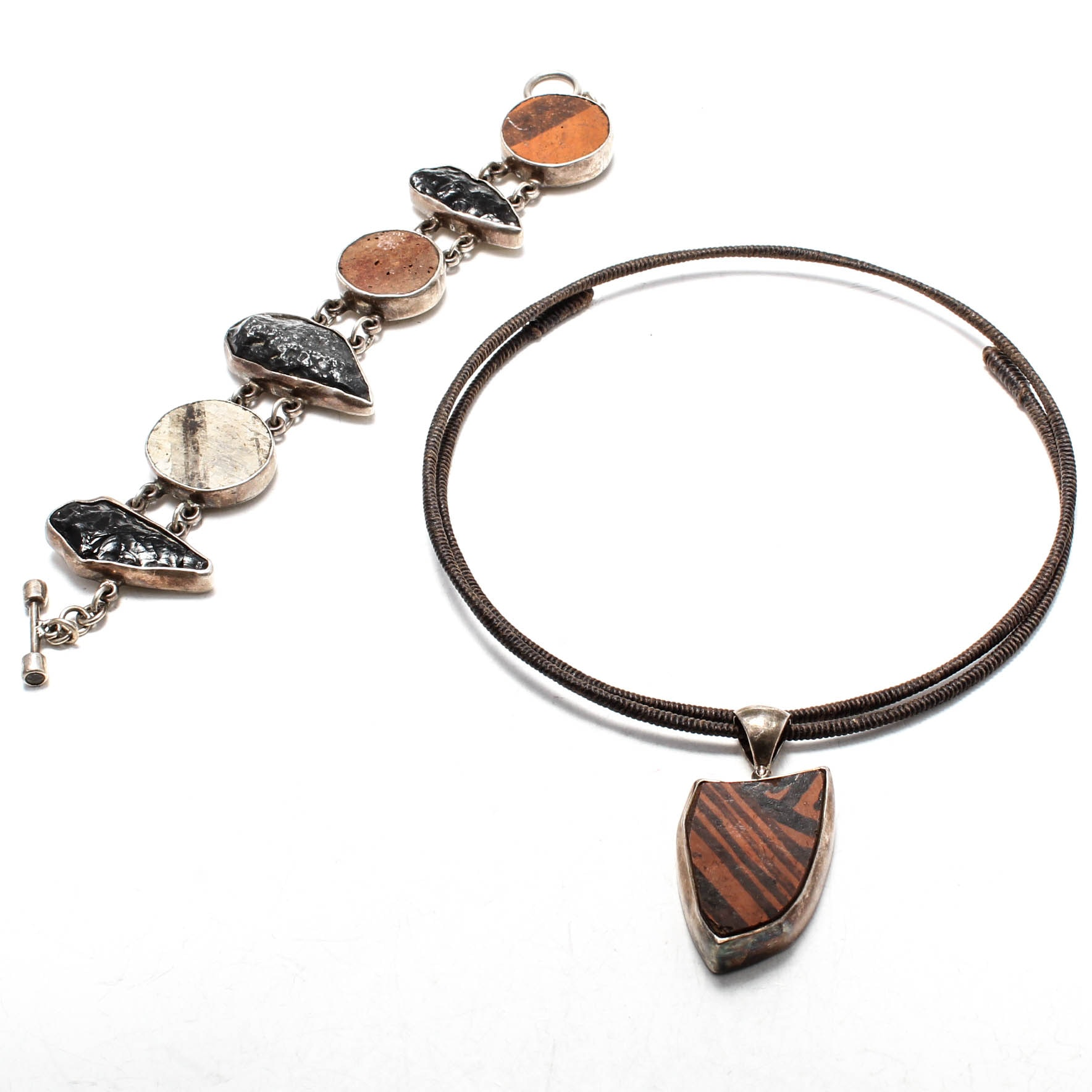 Sterling Silver Jewelry with Pottery Shard Accents