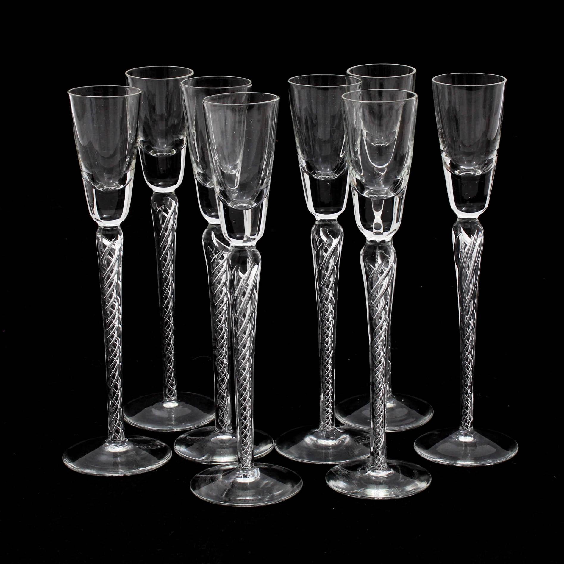 Stuart Crystal Iona Air Twist Tall Stem Cordial Glasses